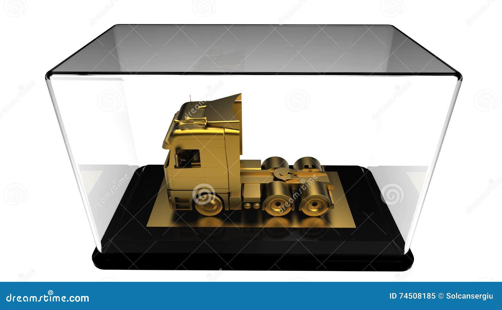 Trofeo del camión del oro stock de ilustración. Ilustración de coche ...