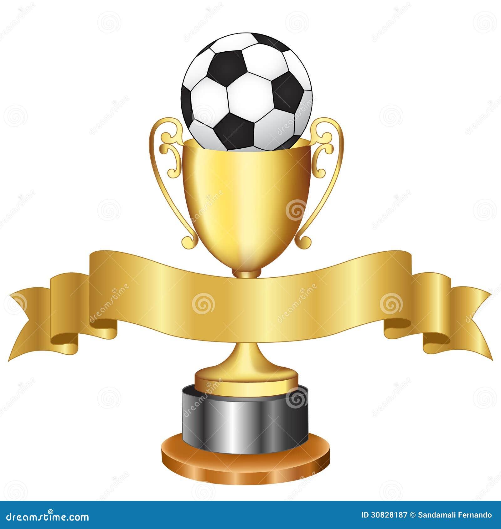 Trofeo e nastro di campionato di calcio