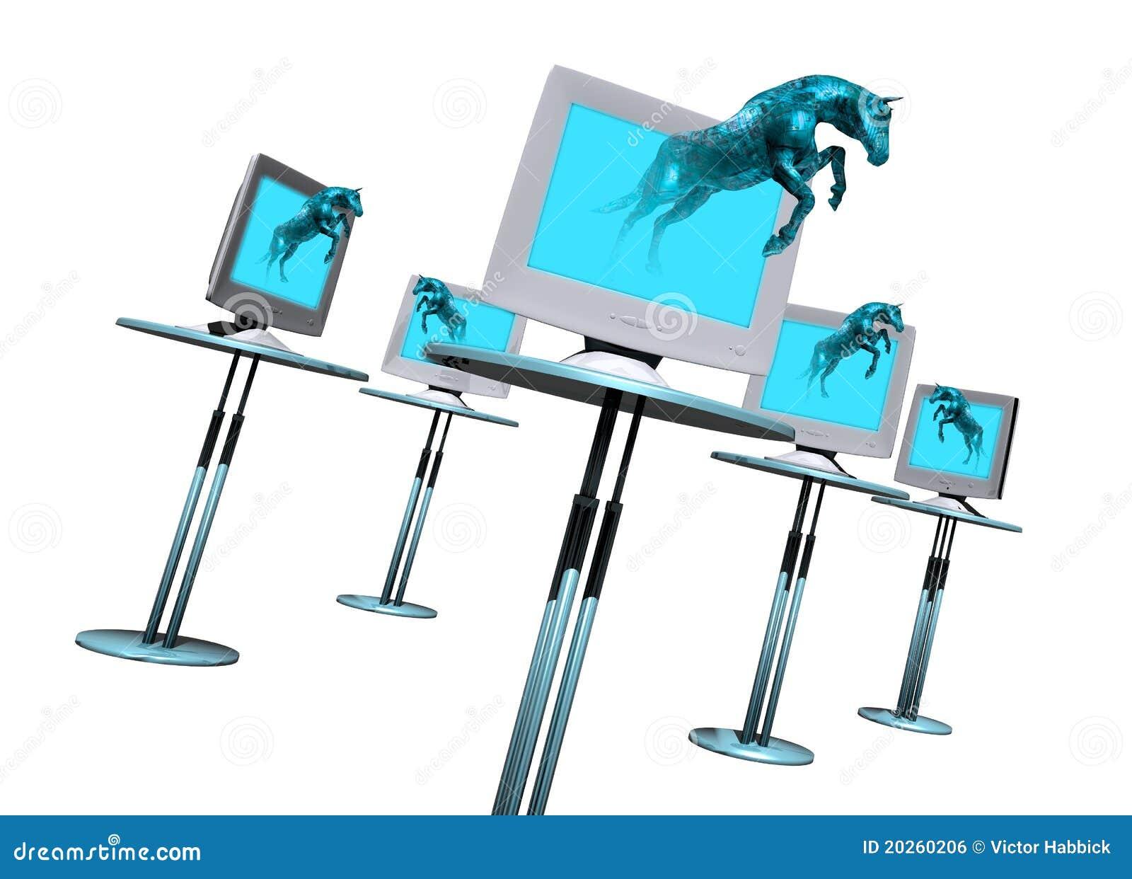 Trogan Horse Computer Virus Royalty Free Stock Image ...