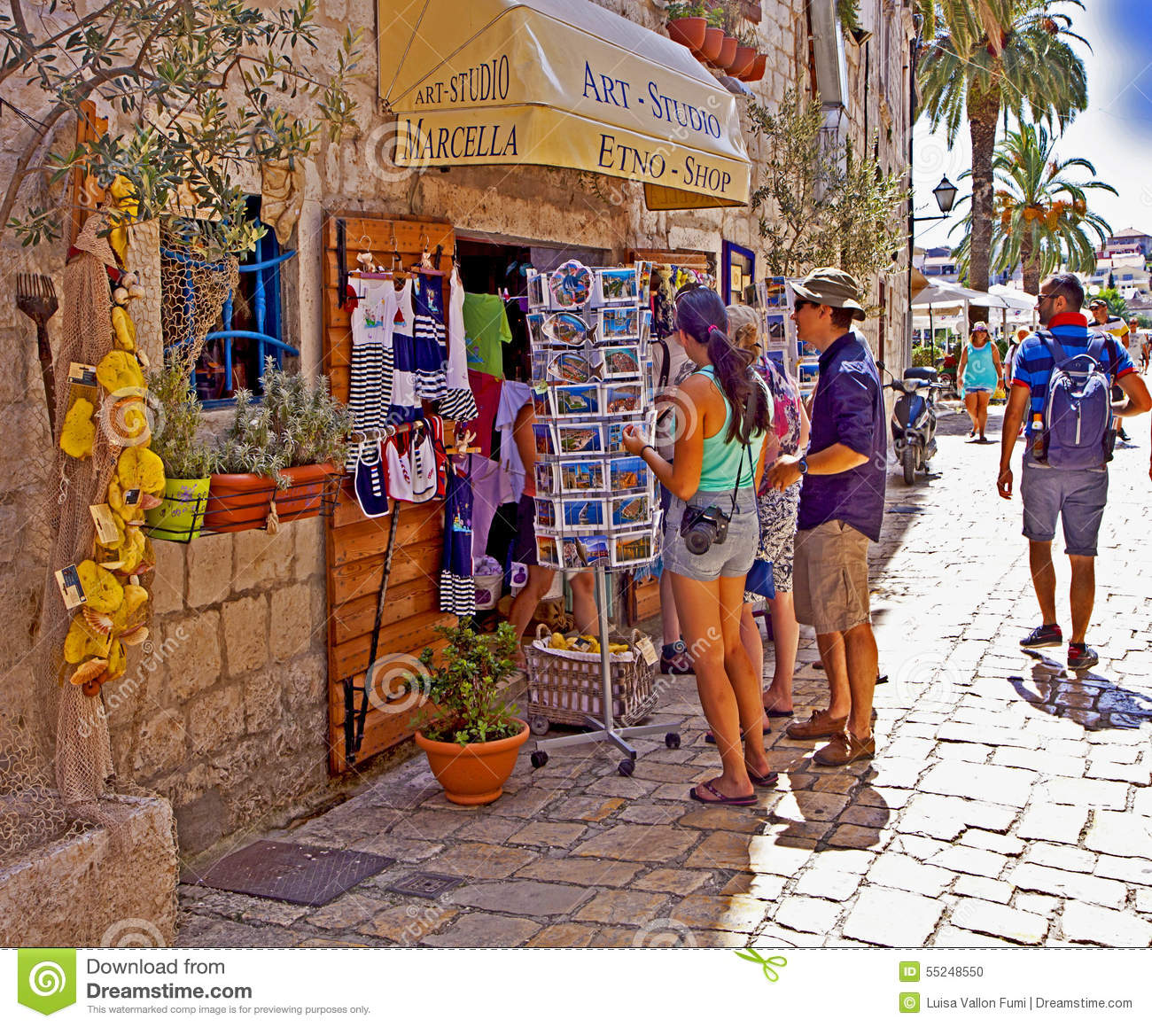 ... At Souvenir Shop On A Warm Sunny Day Editorial Image - Image: 55248550