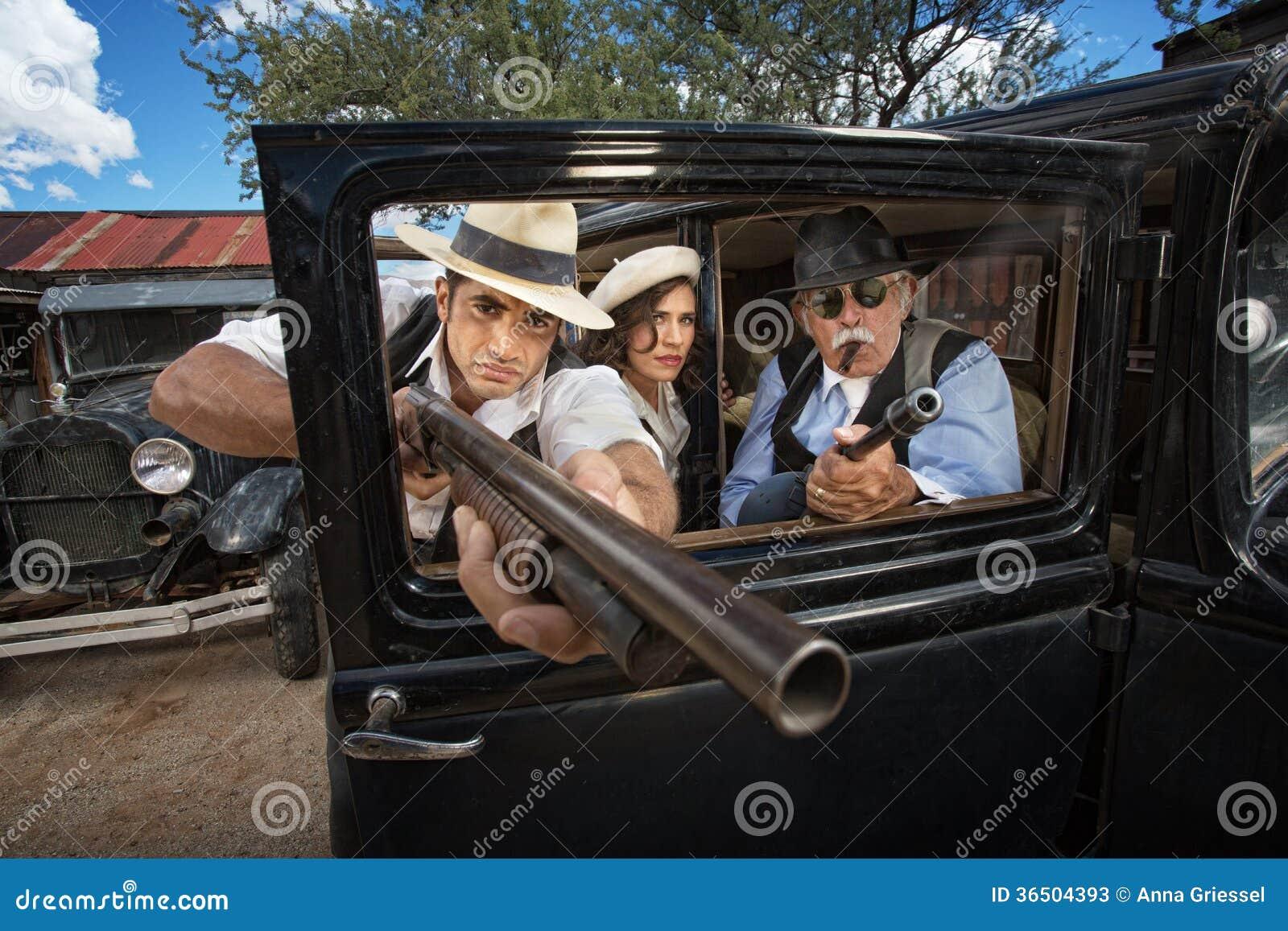 Trois bandits d ère des années 1920