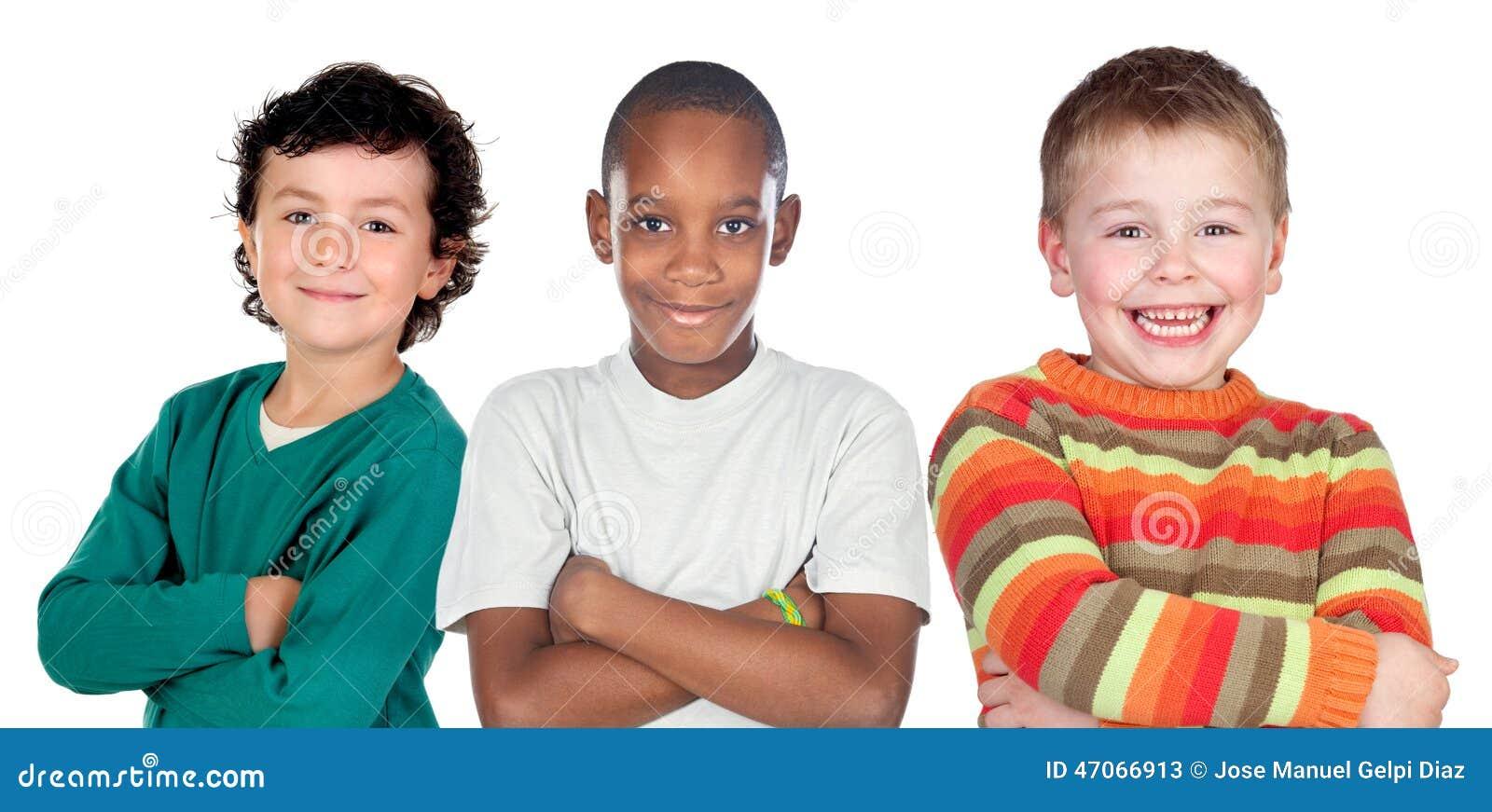 Trois enfants drôles