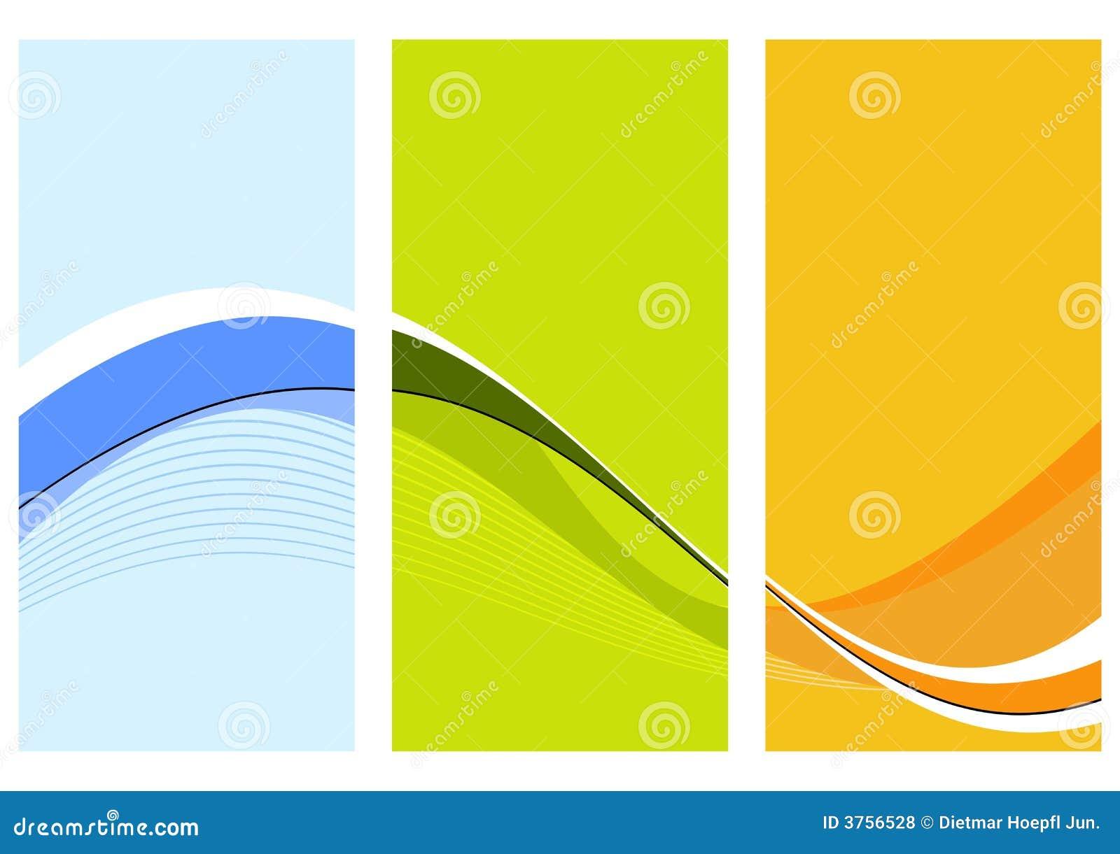 Trois fléaux ondulés