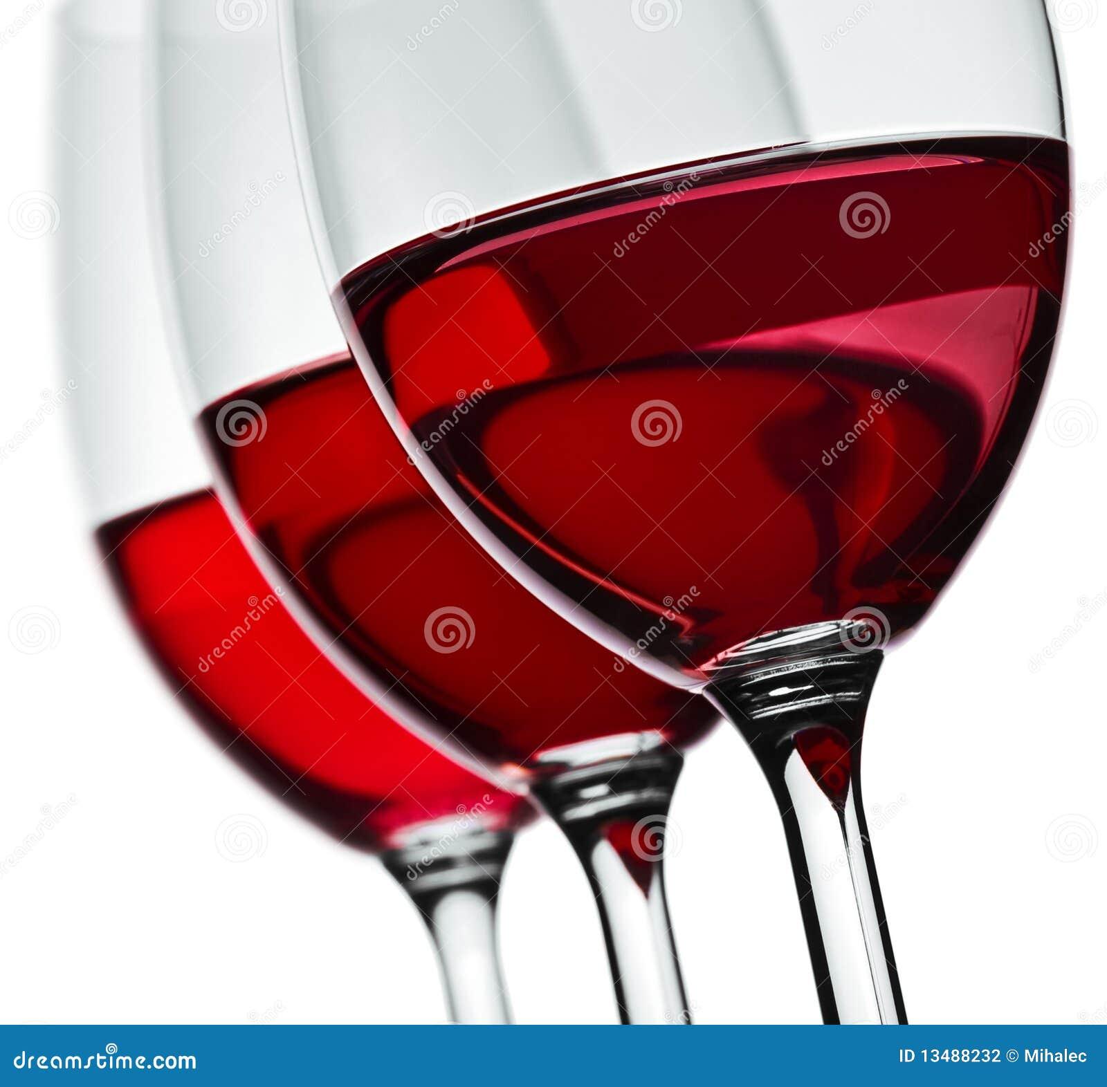 Trois glaces de vin