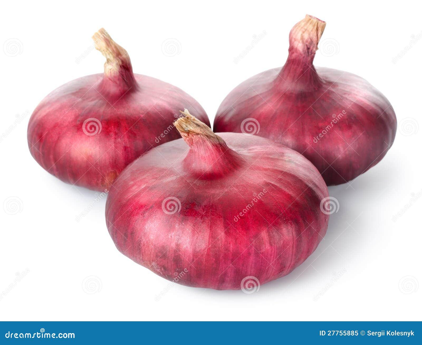 Trois oignons rouges