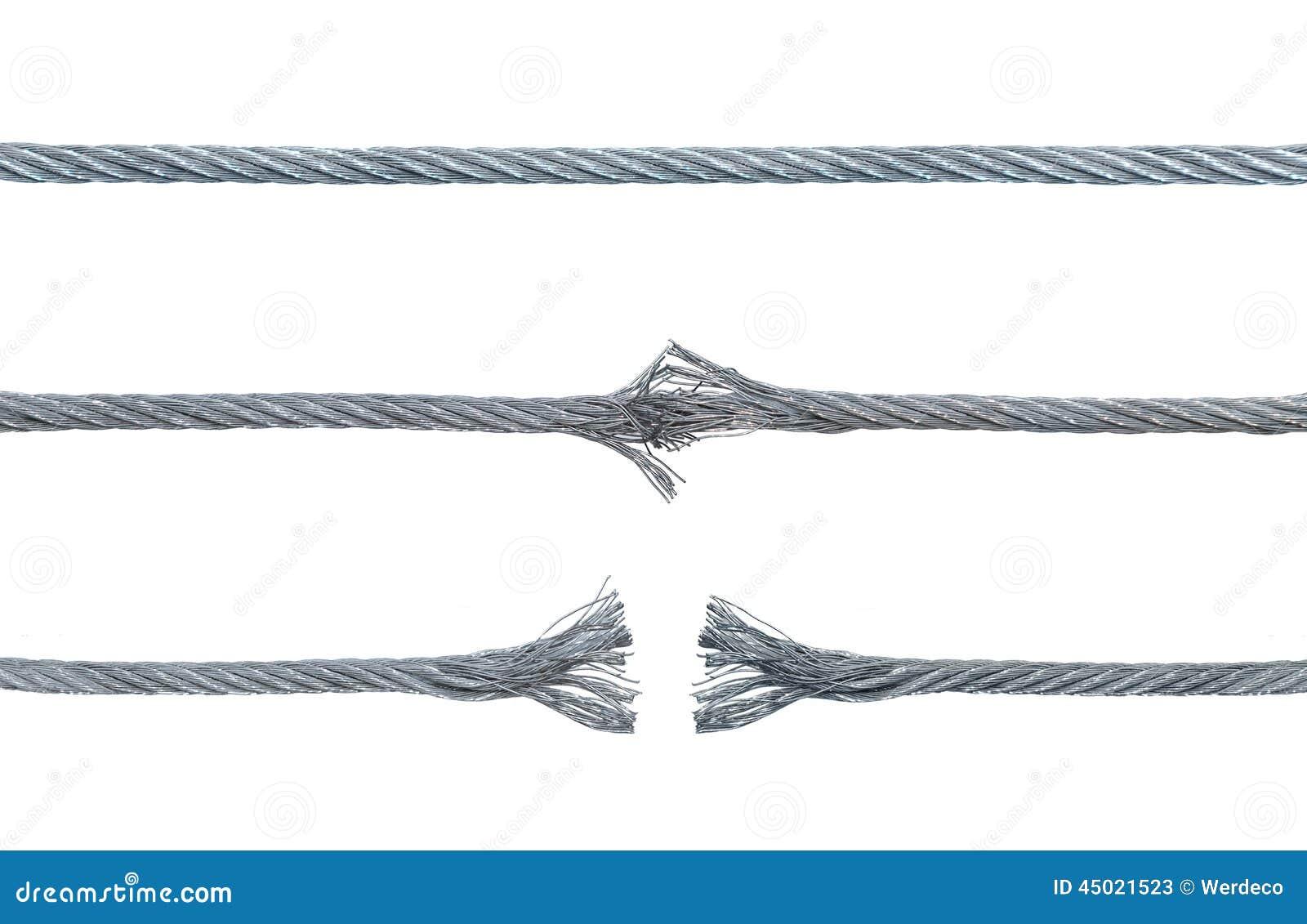 Combien avez vous fait en kms avec votre câble d'origine? Trois-phases-d-un-c%C3%A2ble-de-rupture-en-m%C3%A9tal-45021523