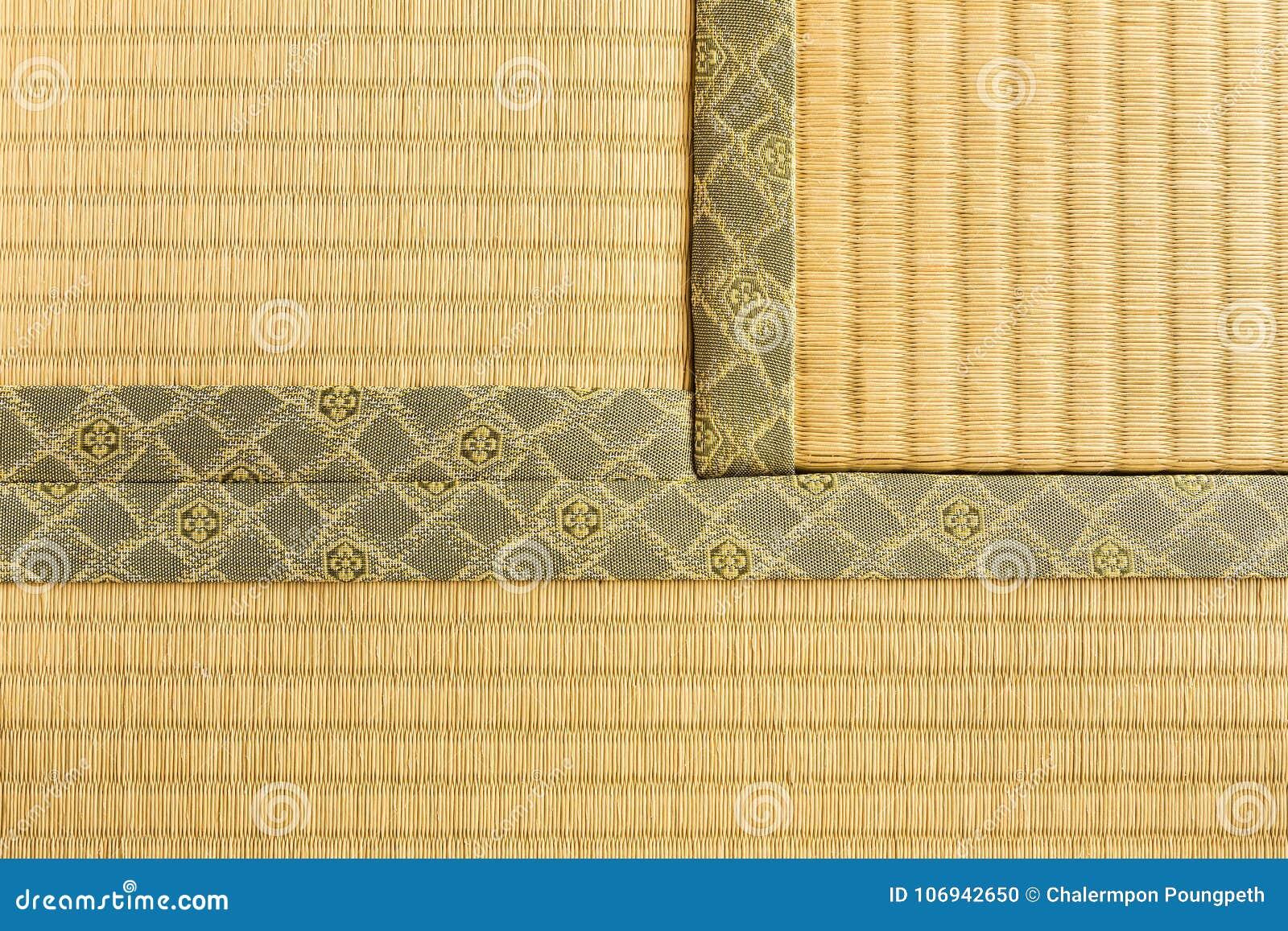 Trois Sections De Tatami Tapis Japonais De Plancher De Piece De