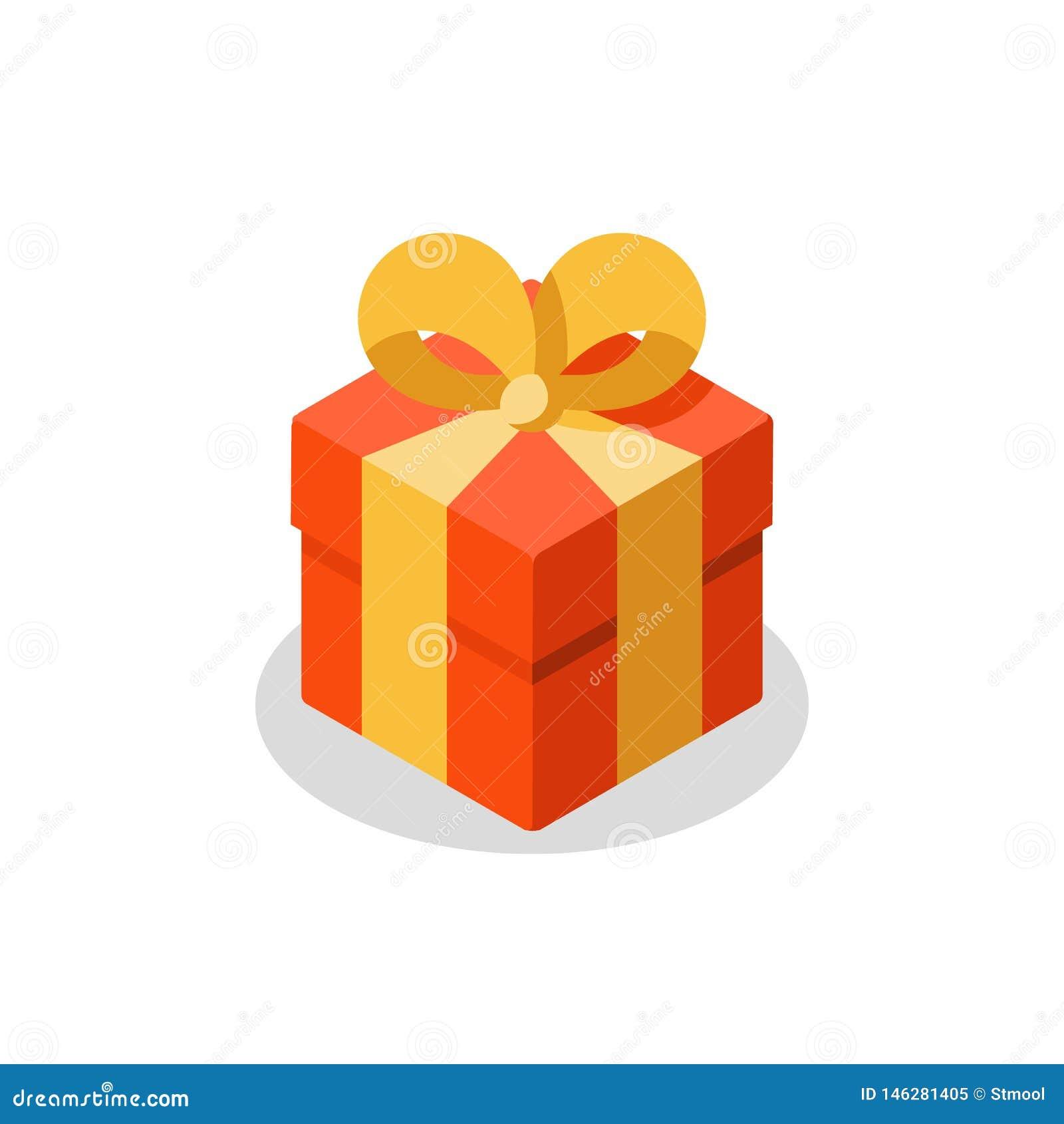 La Boite Jaune Prix trois tailles de cadeau, boîte rouge, ruban jaune, don