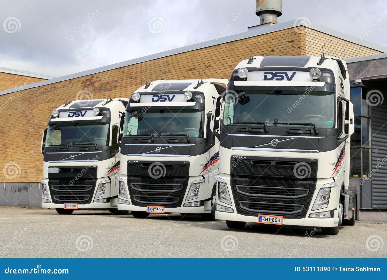 Trois Tracteurs De Camion De Dsv Volvo Fh Image 233 Ditorial