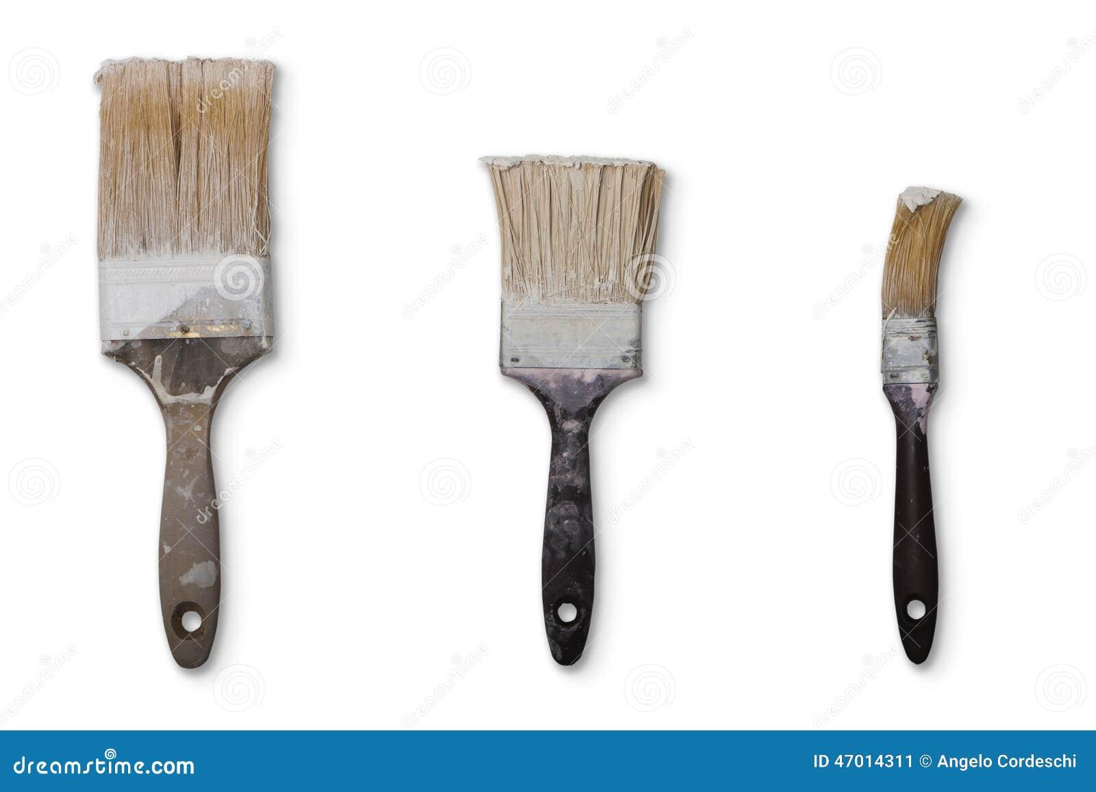 Trois vieilles brosses utilisées Png disponible
