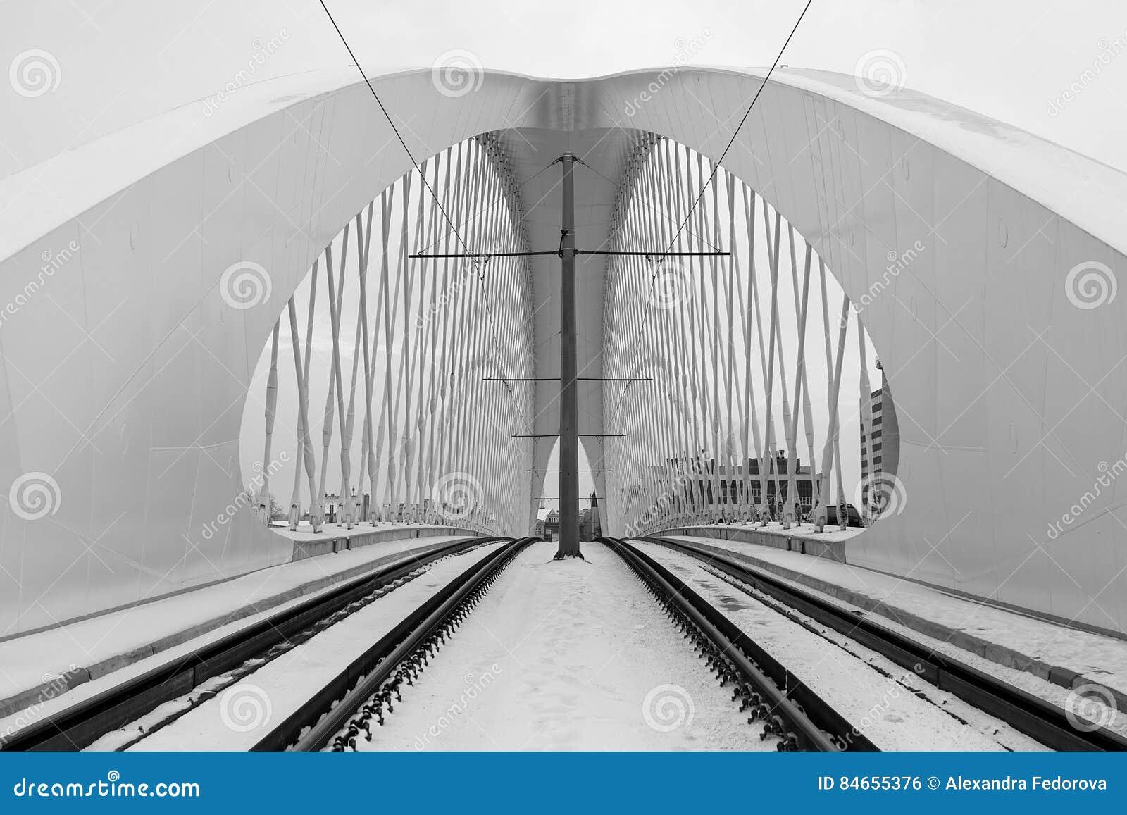 Modern Architecture Detail troja bridge, prague city. modern architecture detail. abstract
