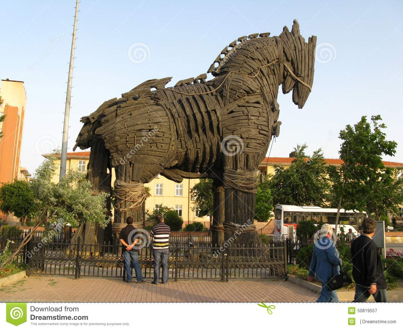 Trojan Horse In Troy (Truva) Turkey Editorial Photography - Image: 50819557