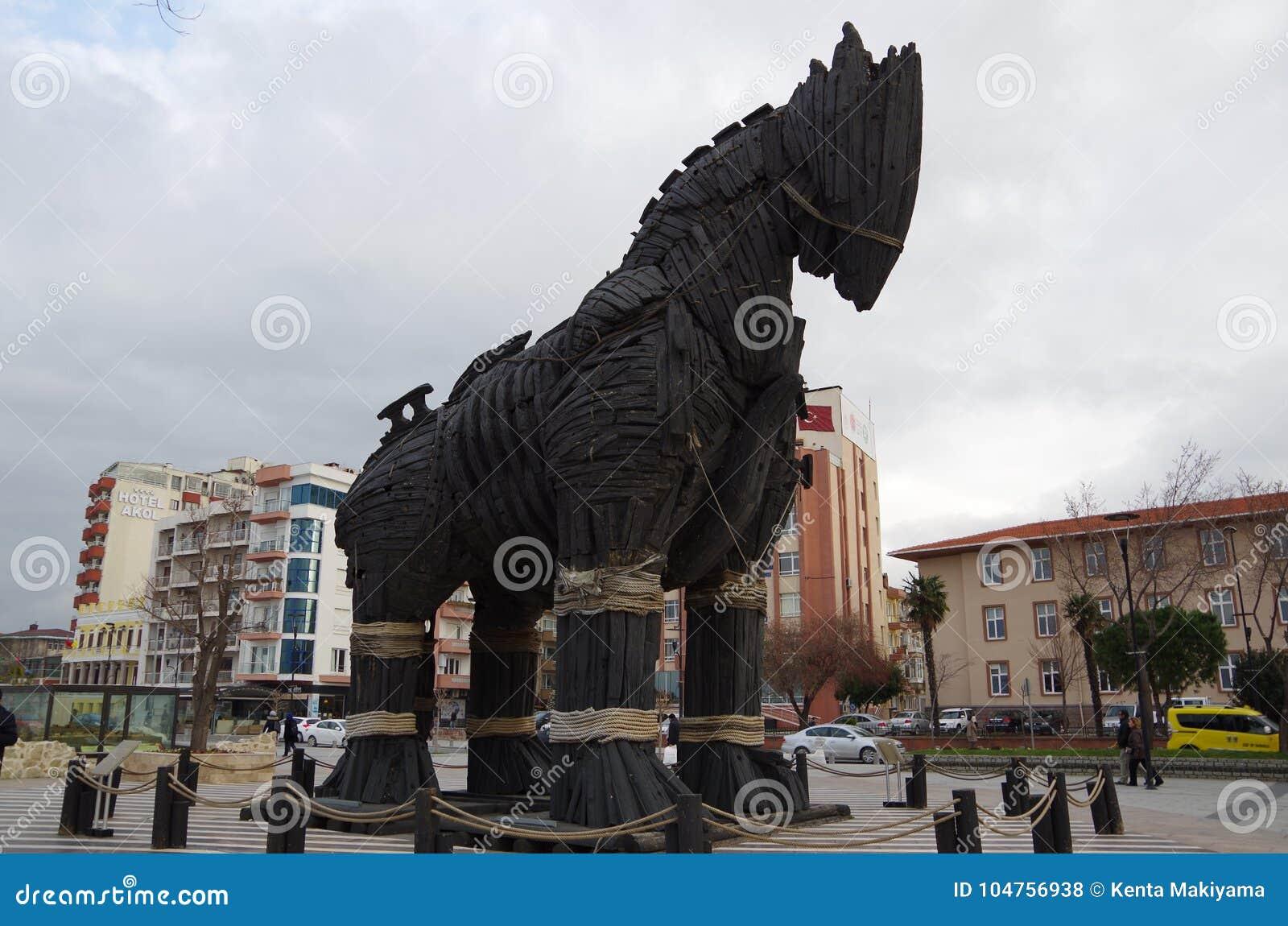 Trojan Horse - Troy, Turkey Editorial Stock Photo - Image of