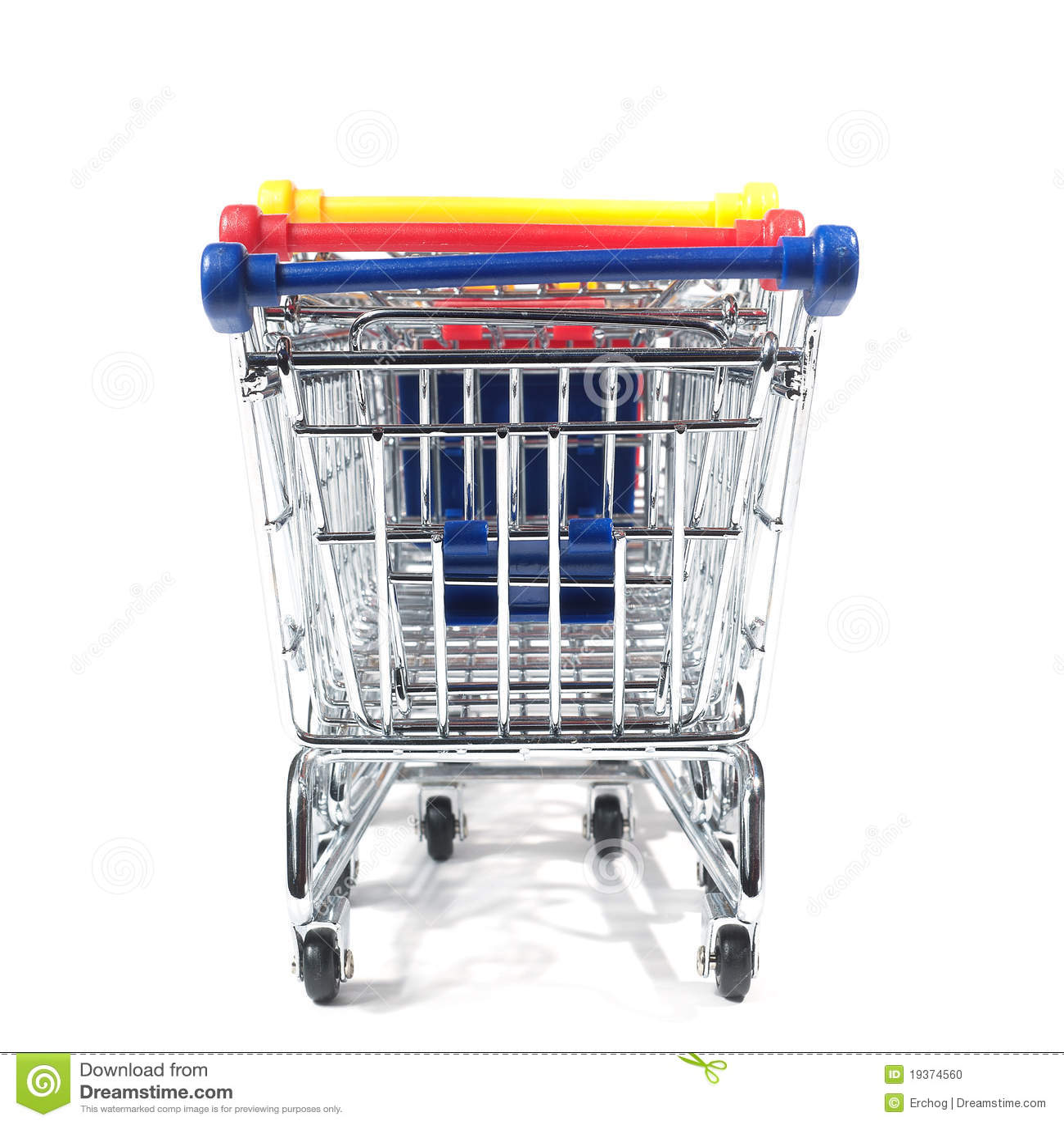 Trole de compra isolado