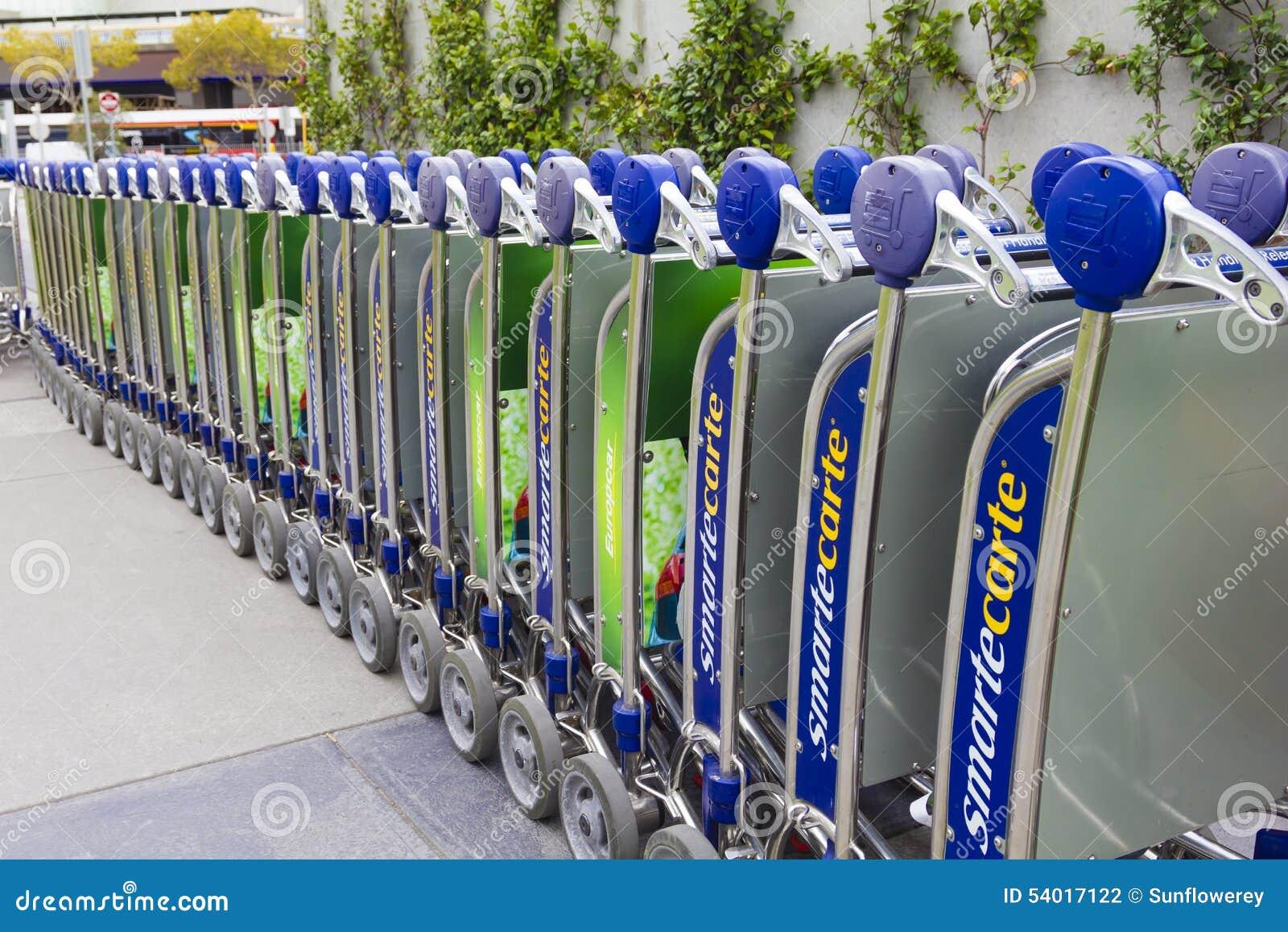 Troles da bagagem do aeroporto de Melbourne