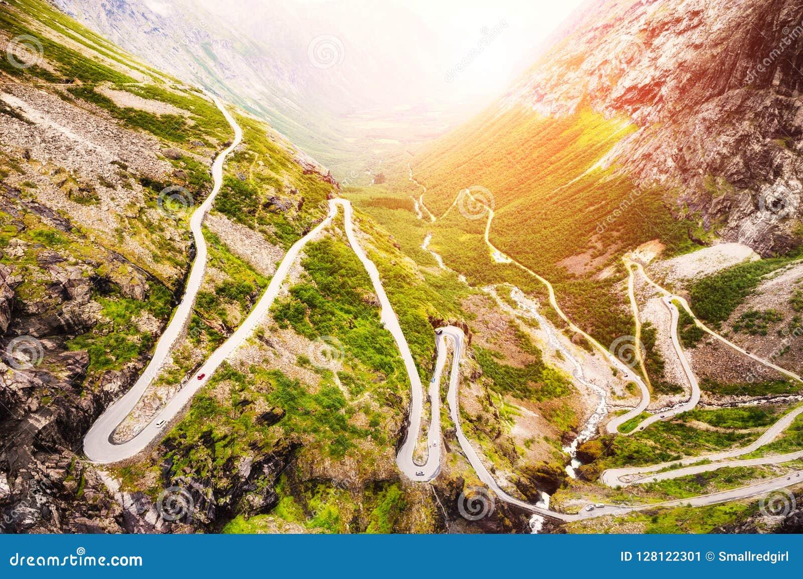 Troll дорога, известное touristic назначение в Норвегии