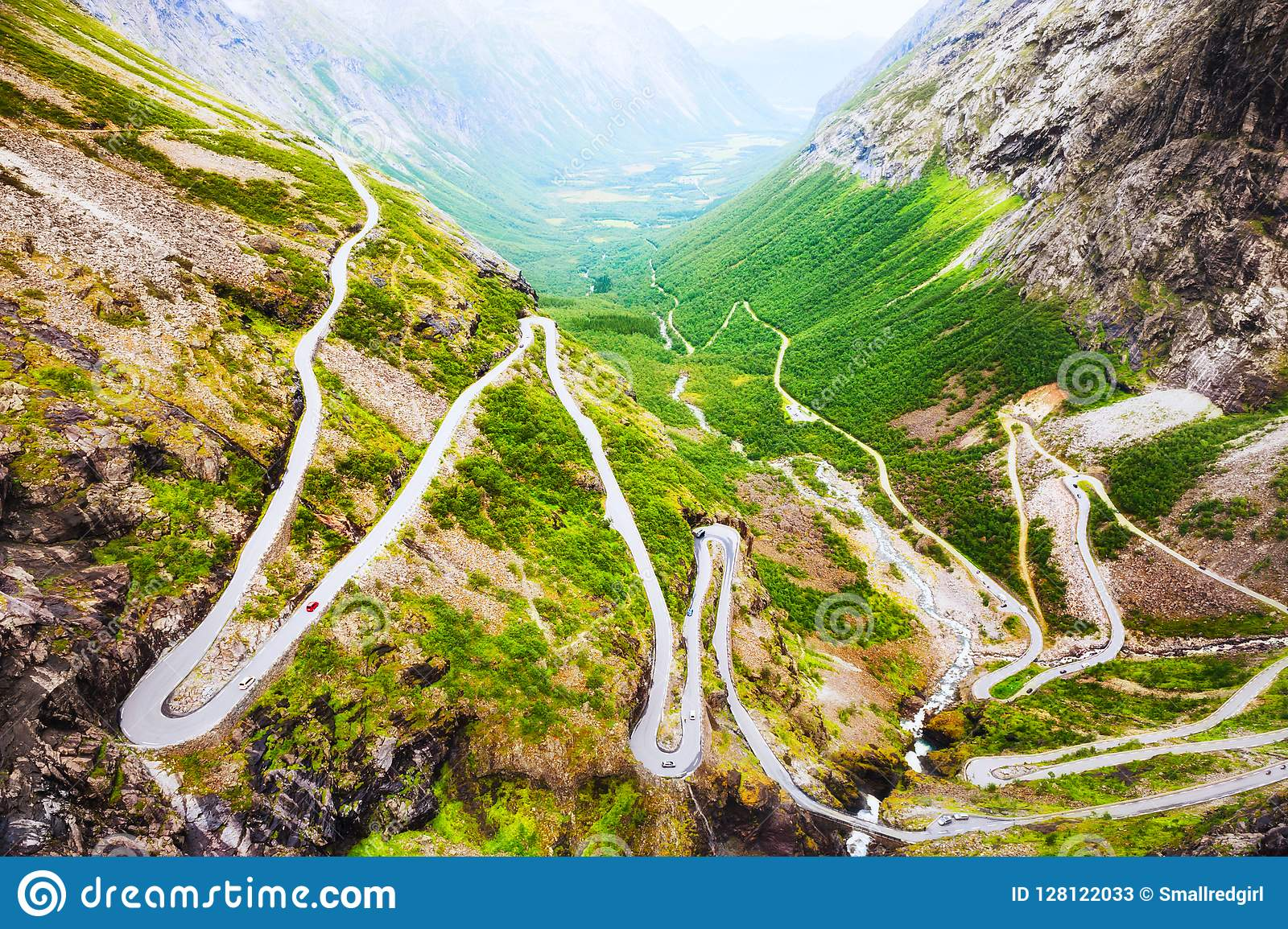Troll road, famous touristic destination in Norway.