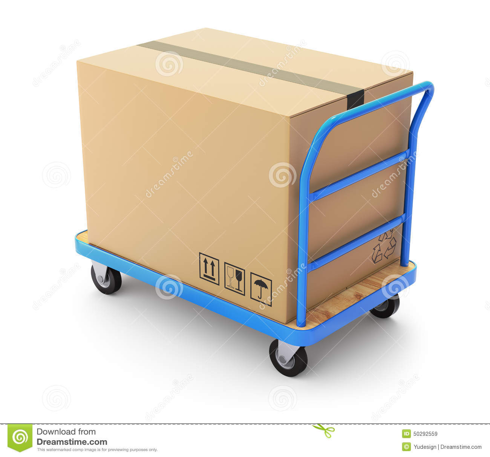 trolley with box stock illustration image 50292559. Black Bedroom Furniture Sets. Home Design Ideas