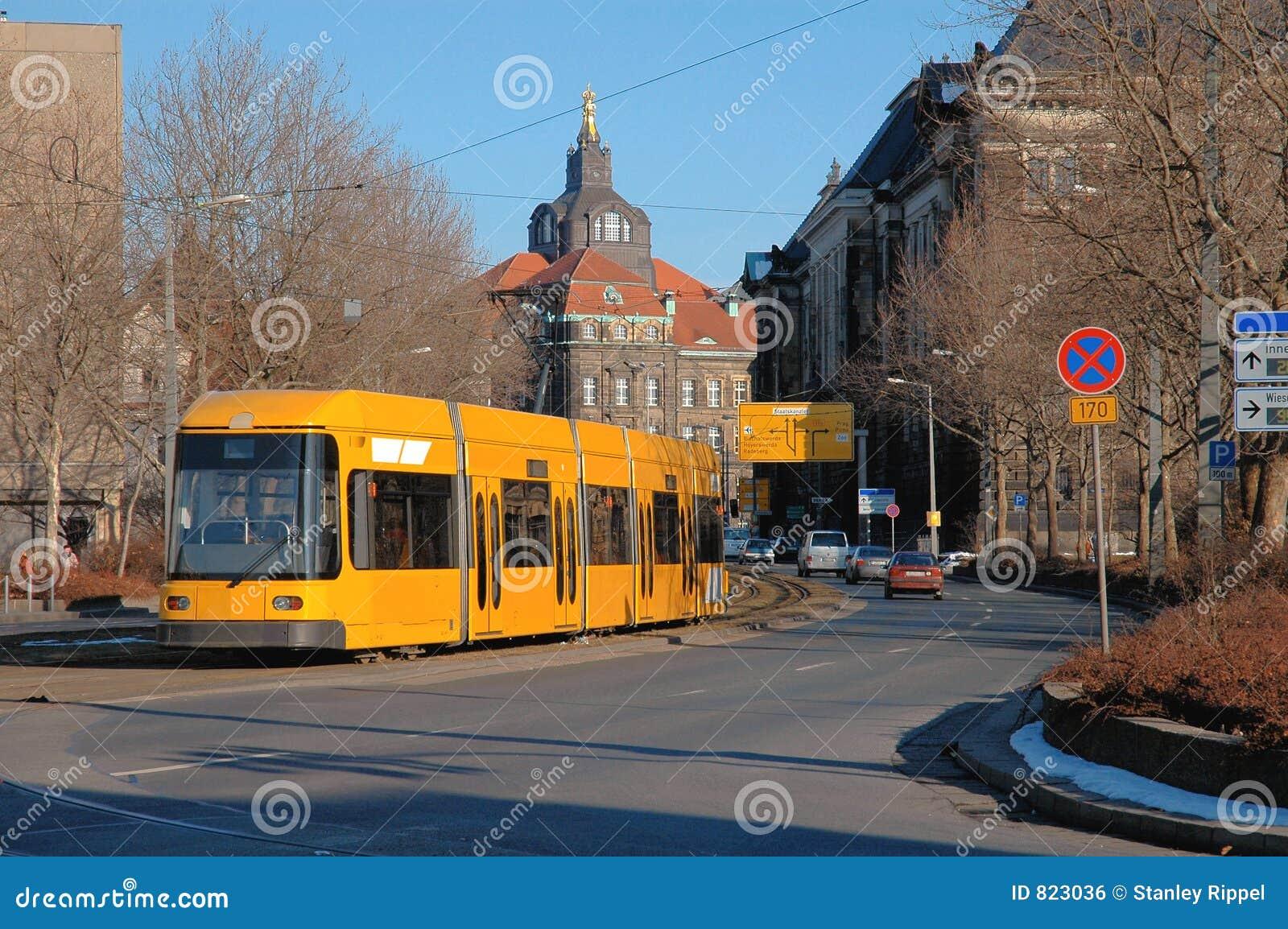 Trolley In Dresden, Germany