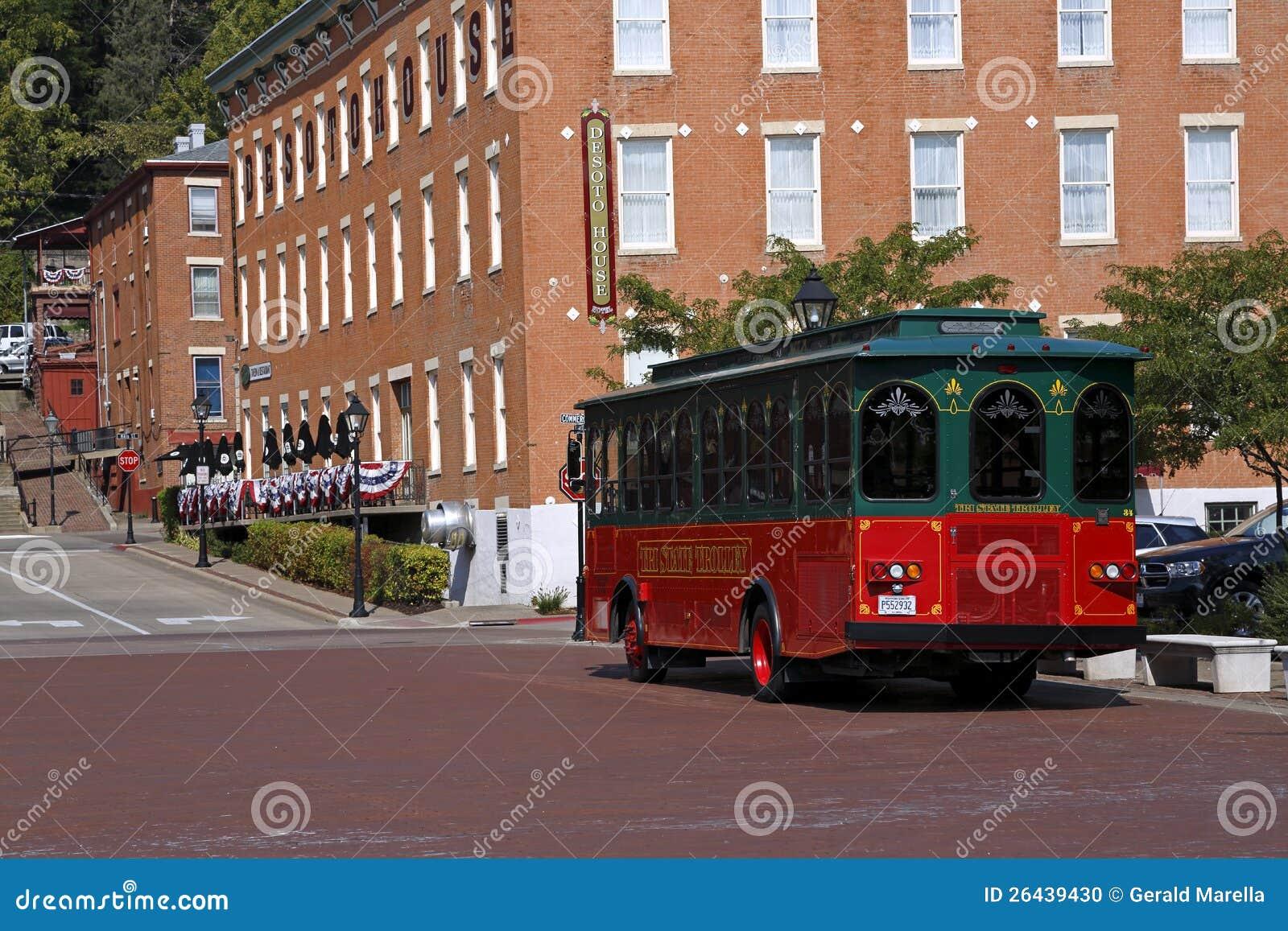 Trolley och DeSoto hushotell i Galena, Illinois