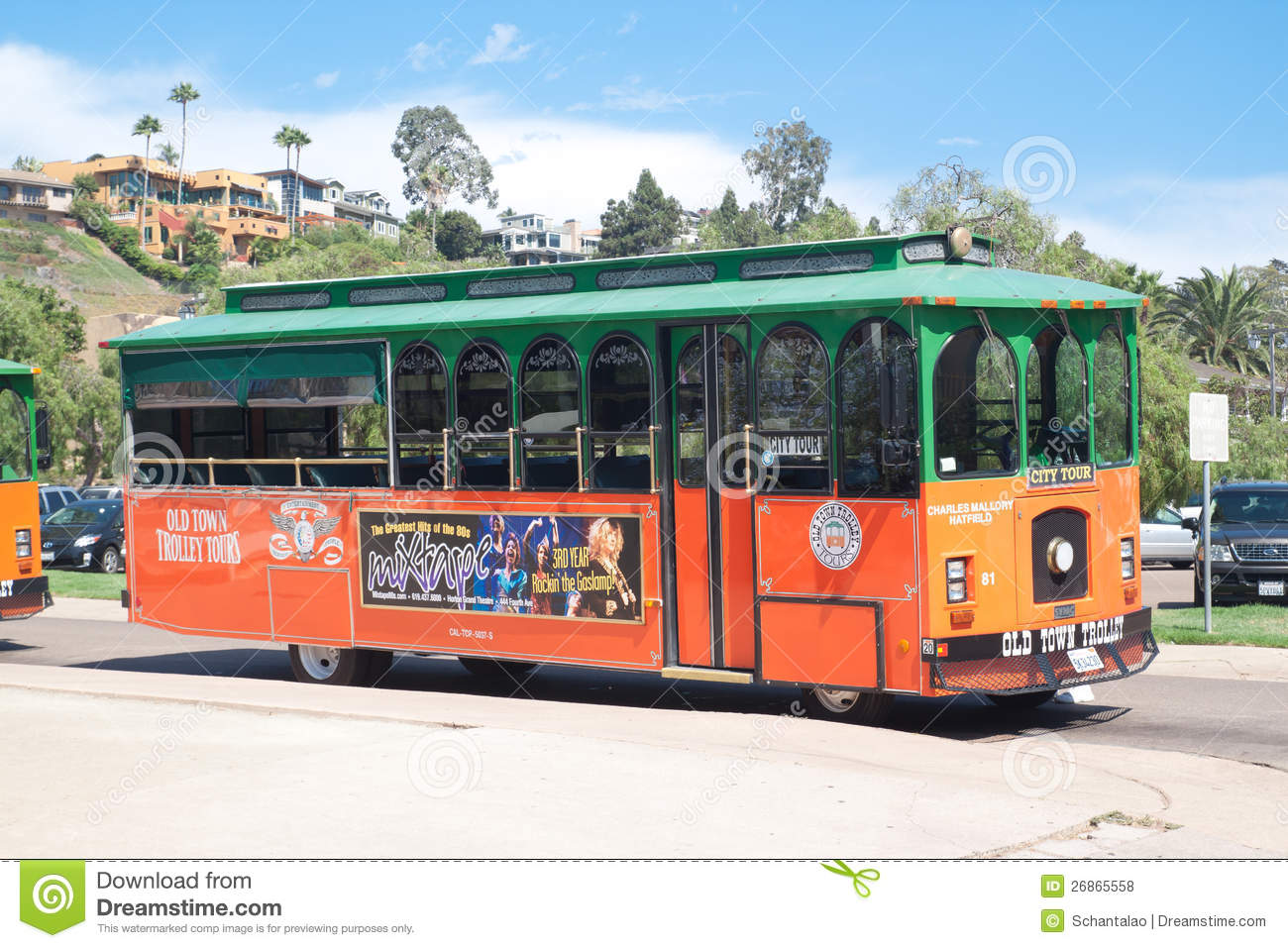 Trolley tours in old town San Diego, California