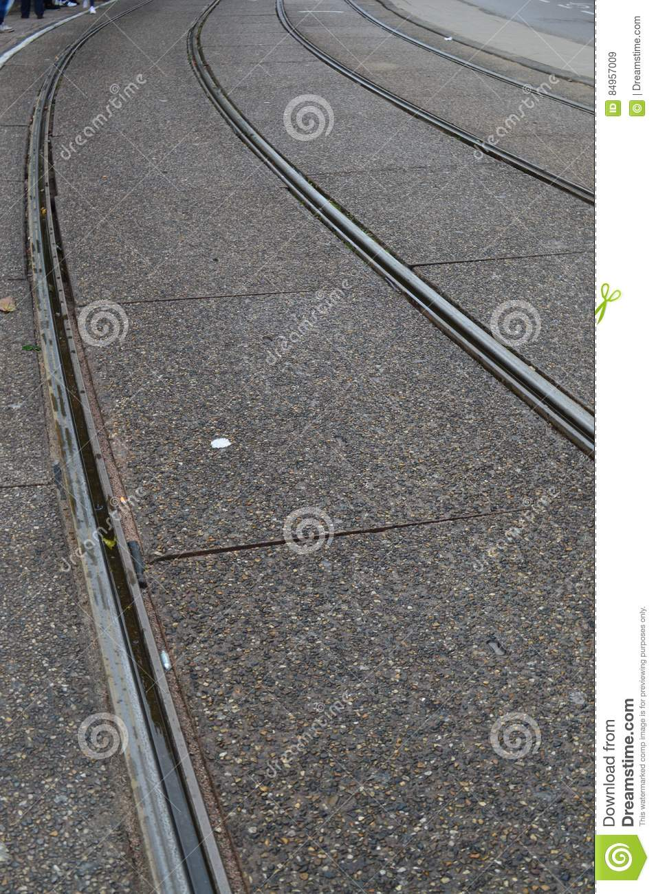 Trolley Tracks in Amsterdam