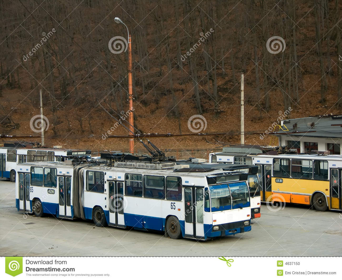 trolleybus depot stock photo image 4637150. Black Bedroom Furniture Sets. Home Design Ideas