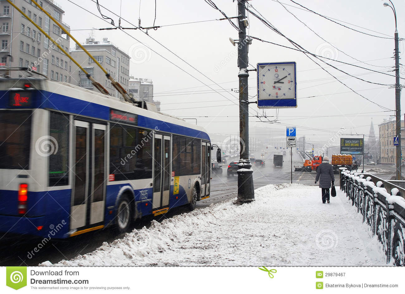 Snowstorm in Moscow
