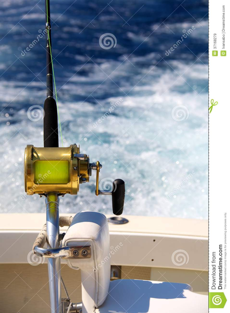 Trolling for big game royalty free stock images image for Deep sea fishing rod and reel