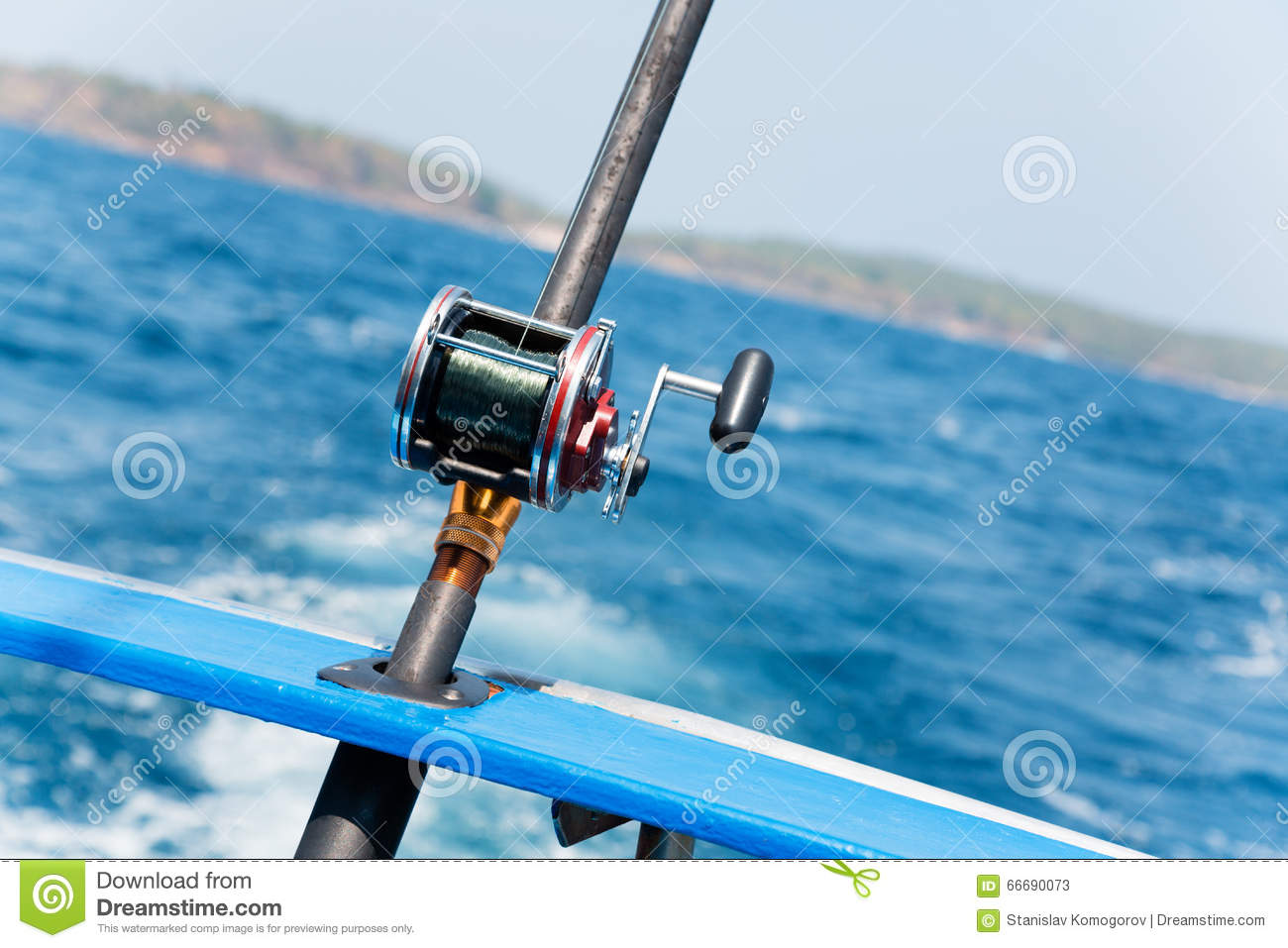 Trolling Fishing With Motor Boat In The Andaman Sea Stock