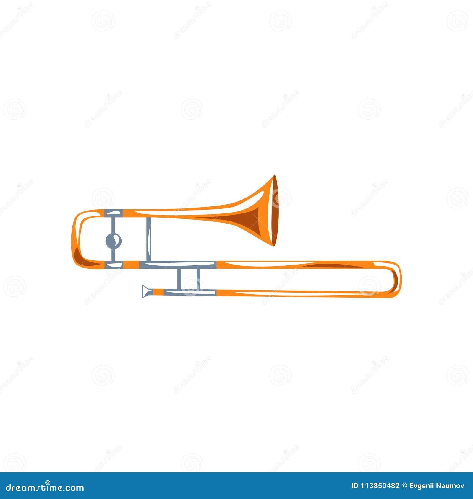 trombone classical music wind instrument vector illustration white background trombone classical music wind instrument vector 113850482 trombone, classical music wind instrument vector illustration on a