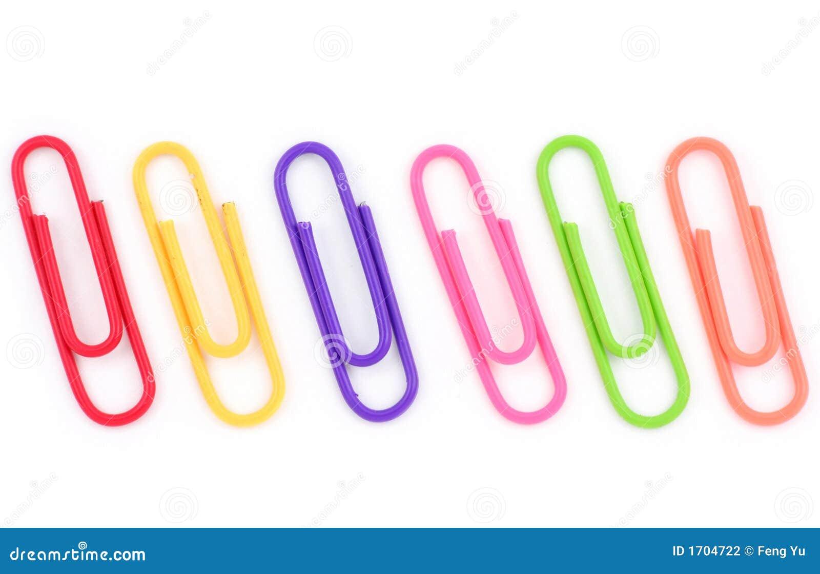 trombone color photo stock image du clip papier bureau 1704722. Black Bedroom Furniture Sets. Home Design Ideas