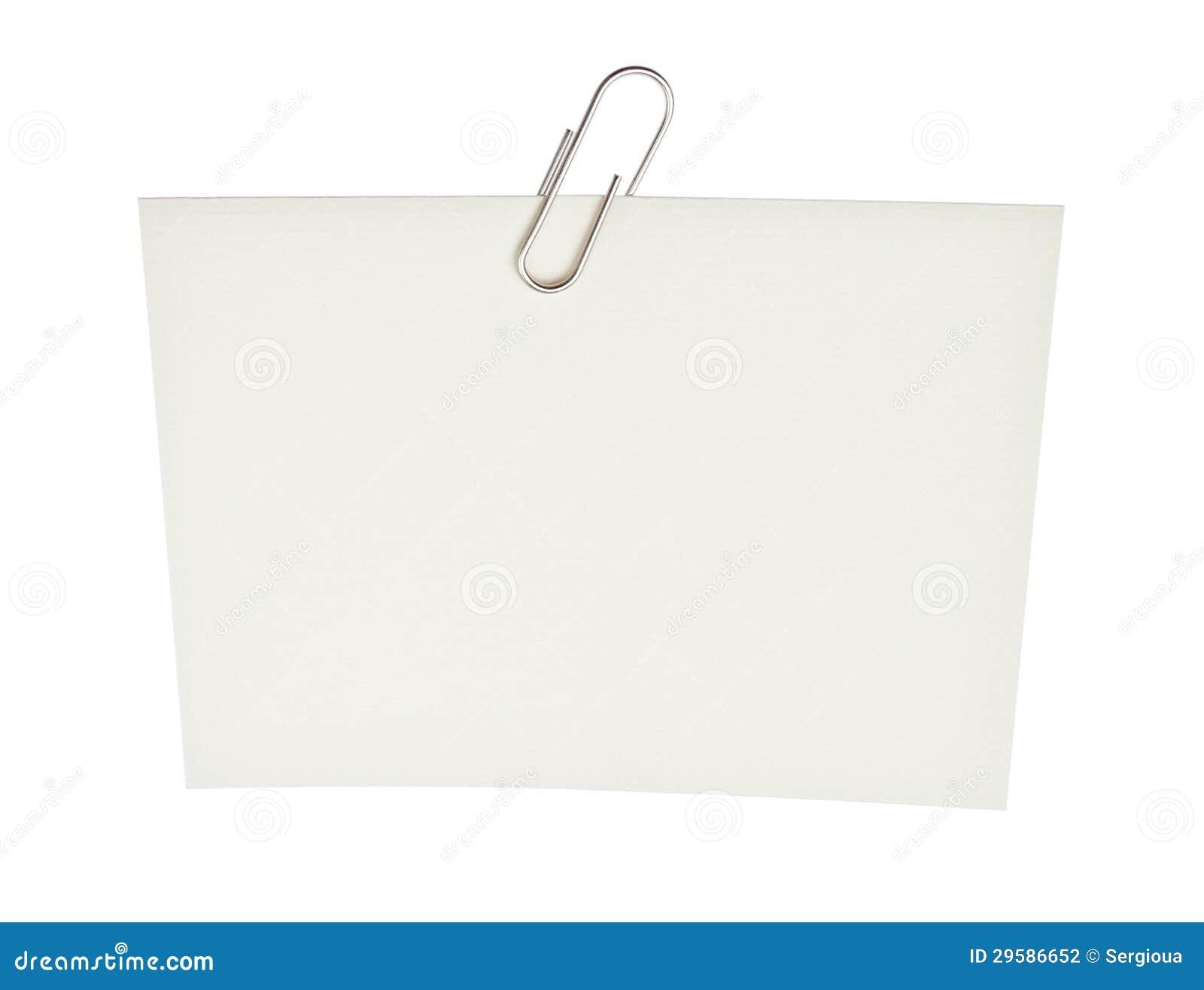 trombone de bureau sur une partie de papier photographie stock image 29586652. Black Bedroom Furniture Sets. Home Design Ideas