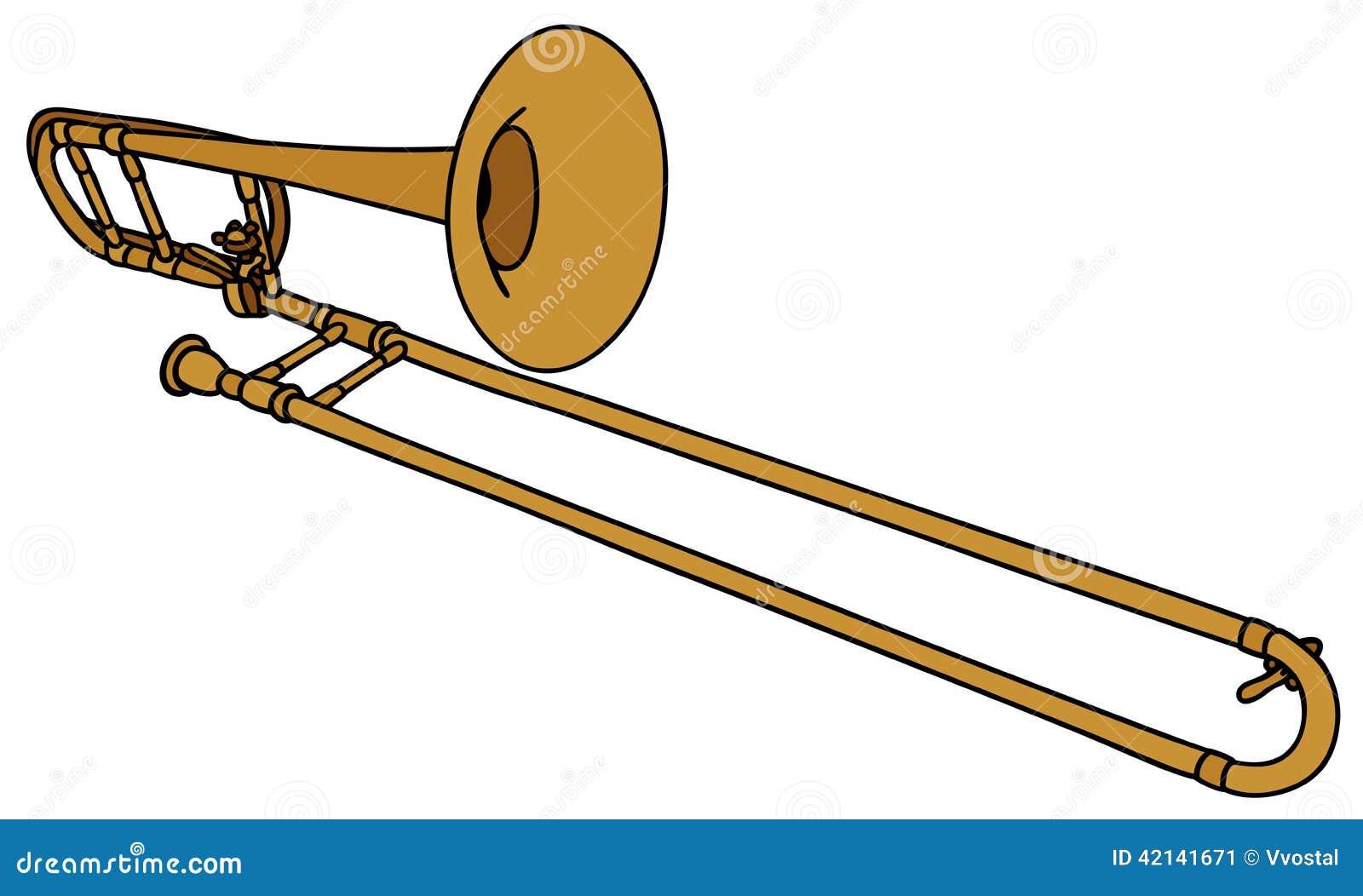 Trombone Stock Vector - Image: 42141671  Trombone Stock ...