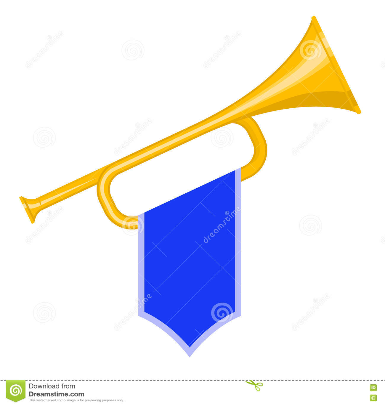 Trompet met vlag