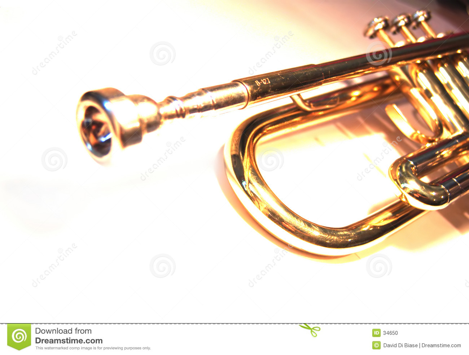Download Trompeta del Bb foto de archivo. Imagen de sostenido, música - 34650
