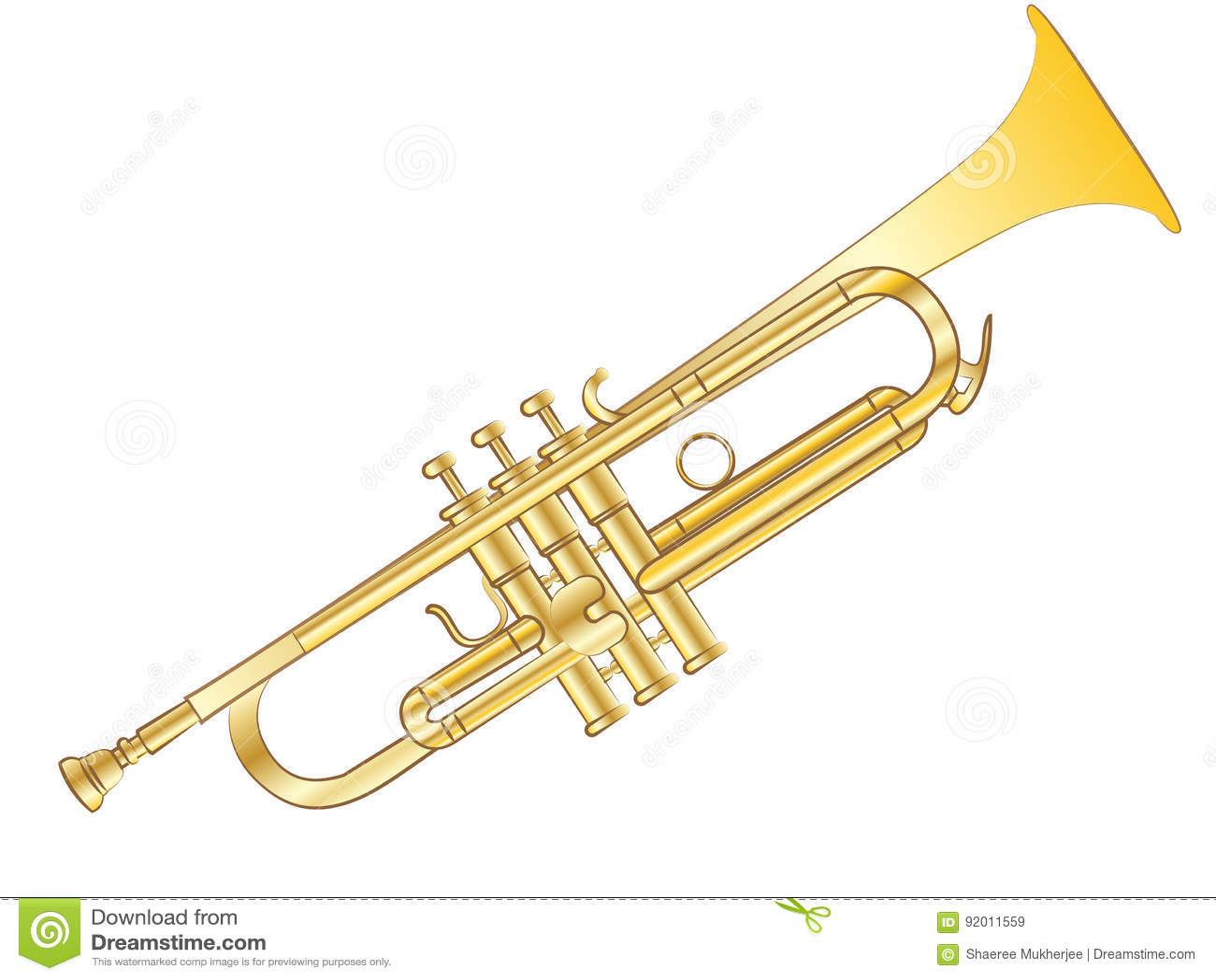 Trompeta del vector