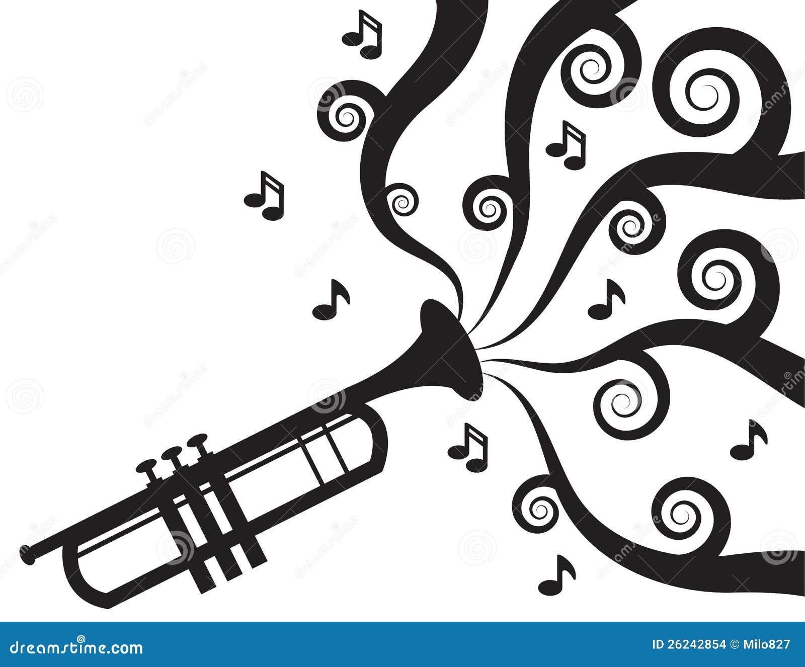 trompete die musikschattenbild spielt stockbilder  bild