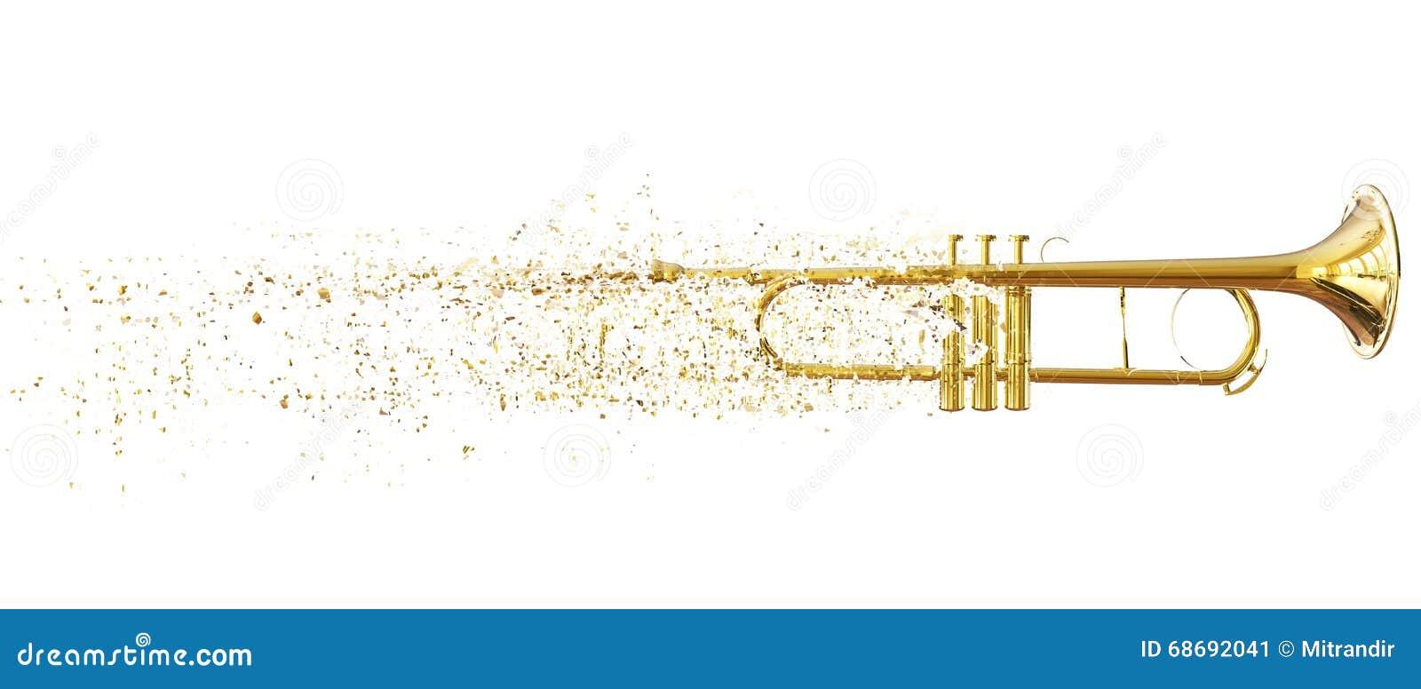 Trompete - kleine abbrechende Stücke