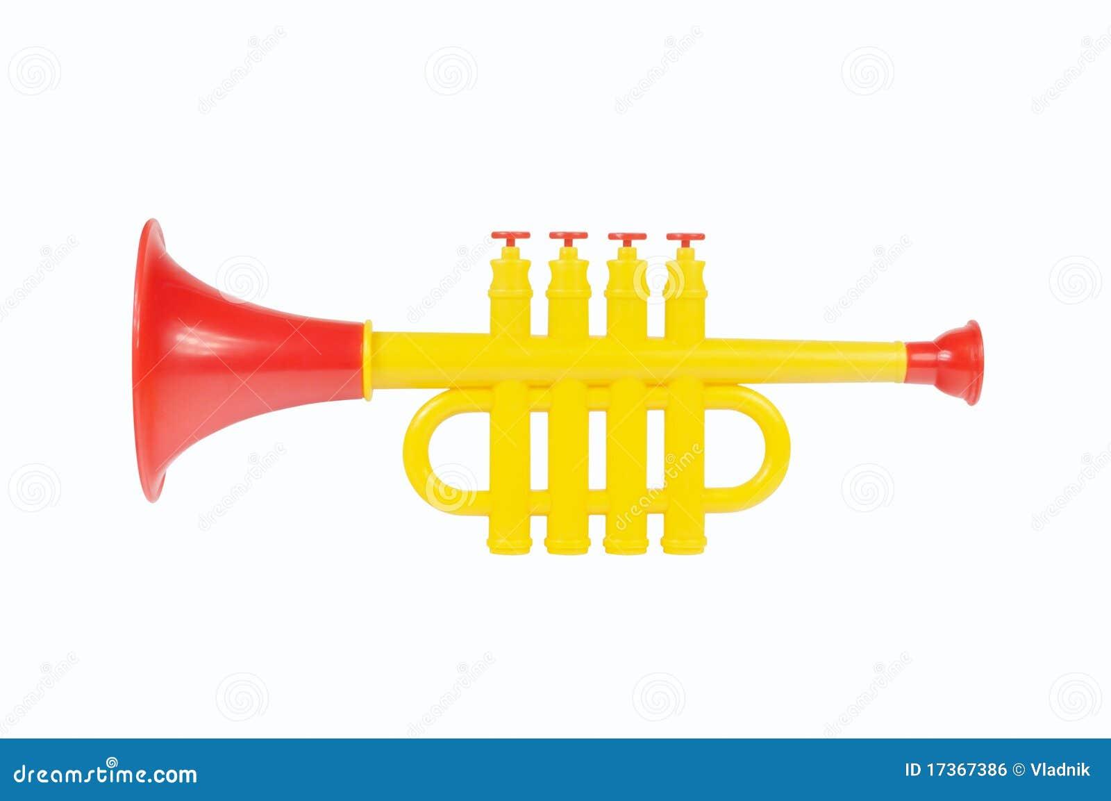 Trompette d enfants faite de plastique coloré