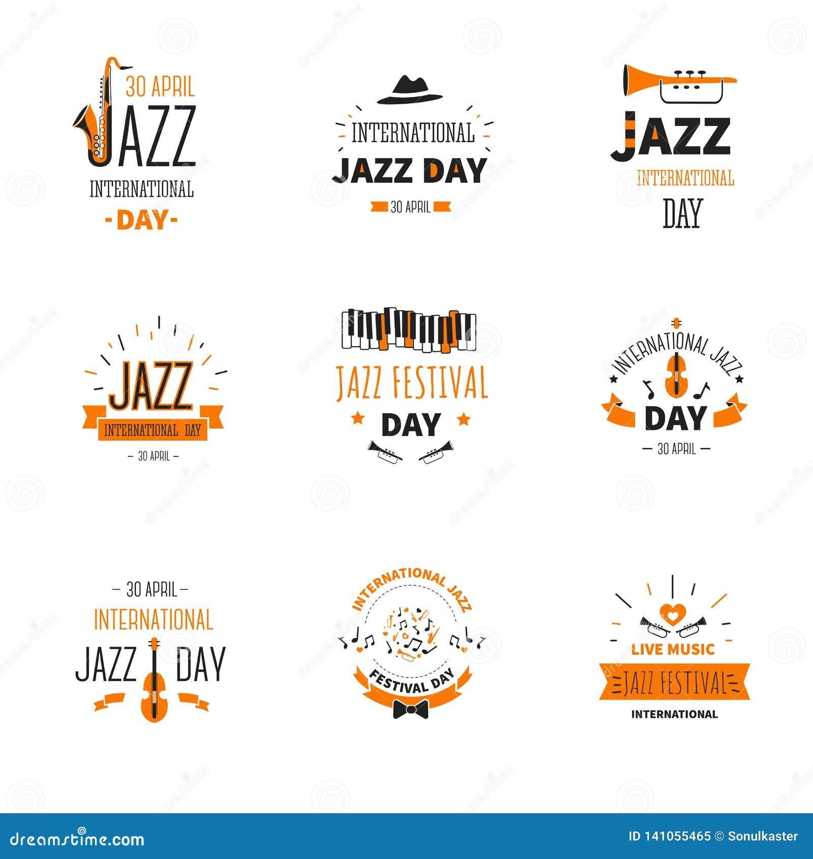Trompette et saxophones internationaux de vacances de jour de musique de jazz