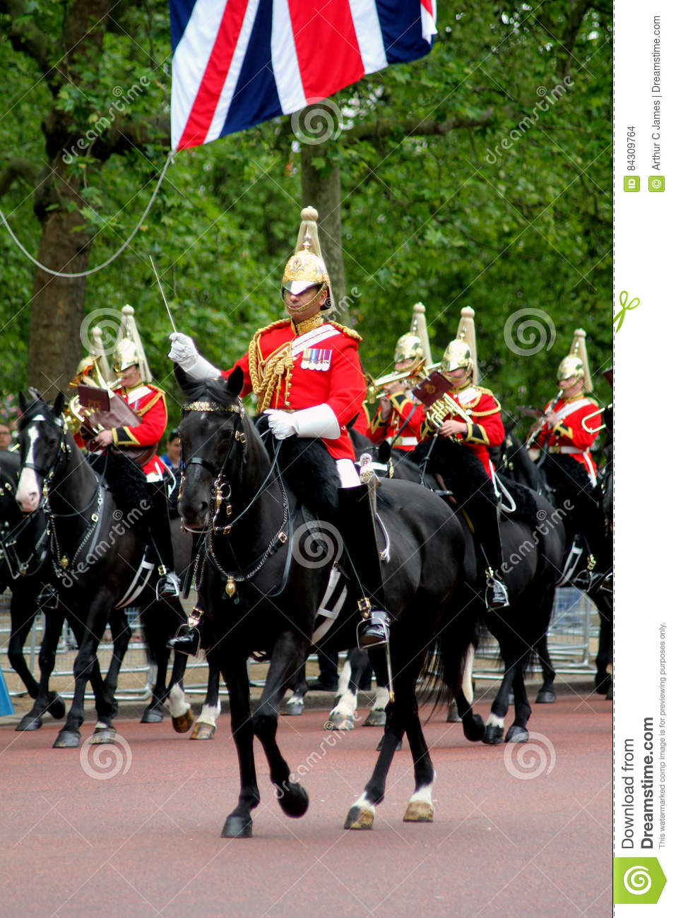 Trooping The Colour editorial stock image  Image of