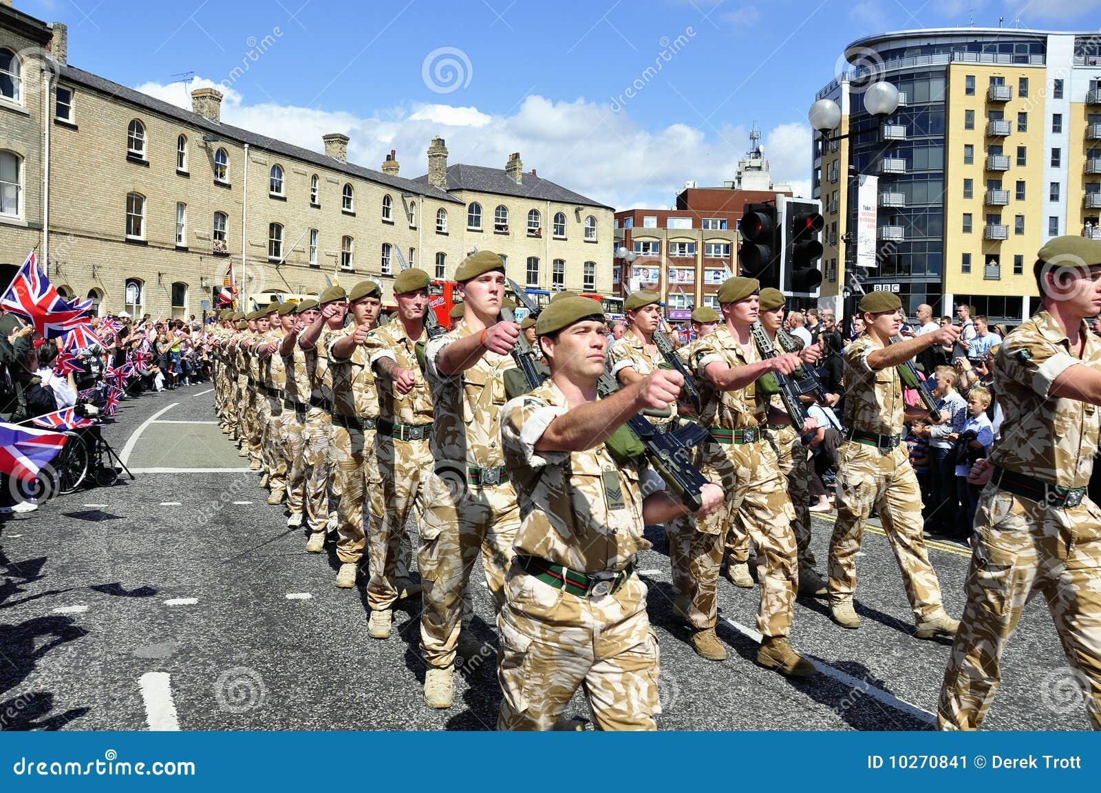 Tropas do regimento de Yorkshire