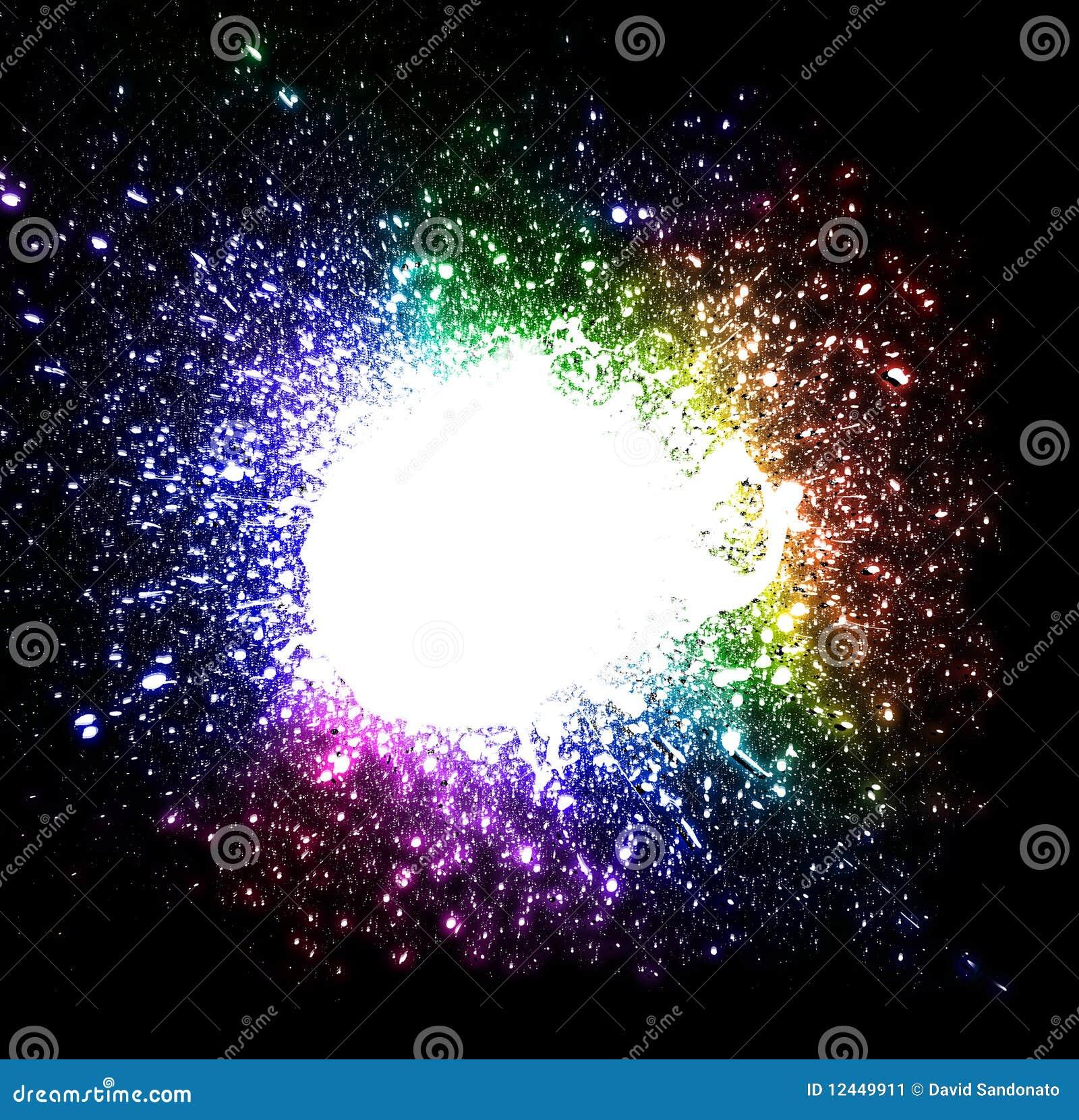 tropfen explosion hintergrund mit regenbogen farben stock abbildung bild 12449911. Black Bedroom Furniture Sets. Home Design Ideas