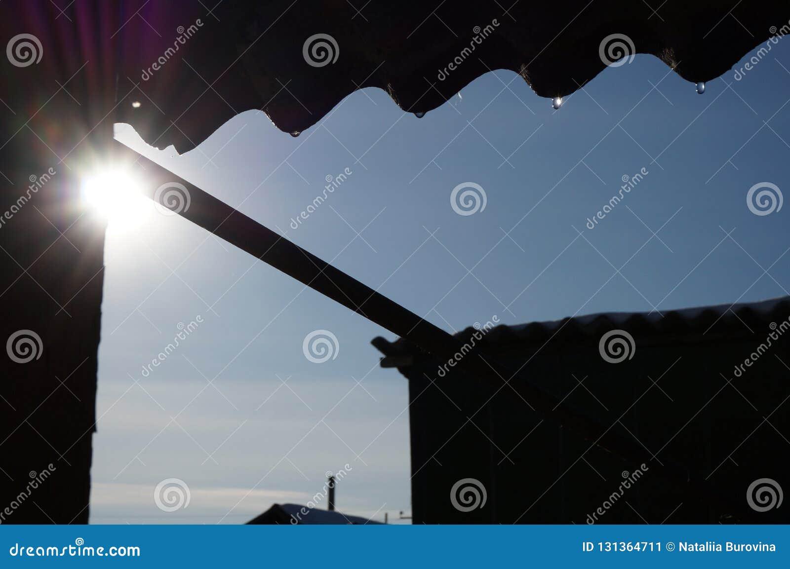 Tropfen vom Dach