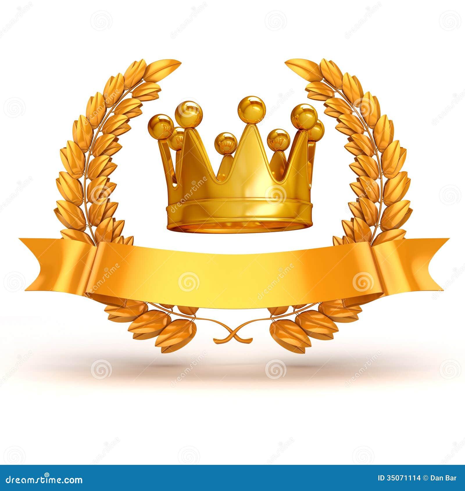 Trophée 3d et laurier d or