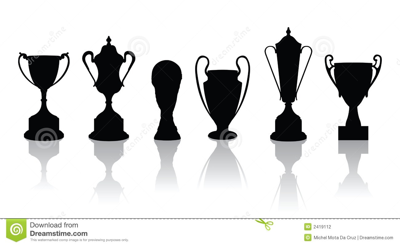 Champions League Trophy Vector Trophies vectors