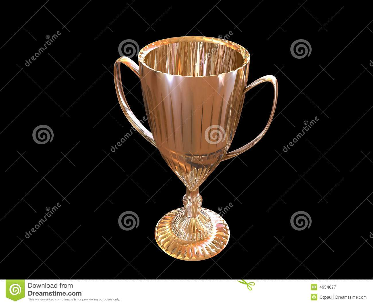 trophy on black background royalty free stock photography
