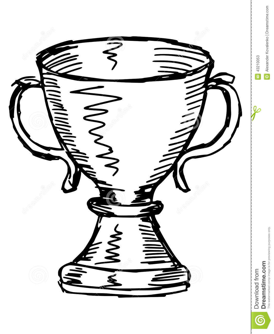Trophy Cup Stock Vector Image 43210053