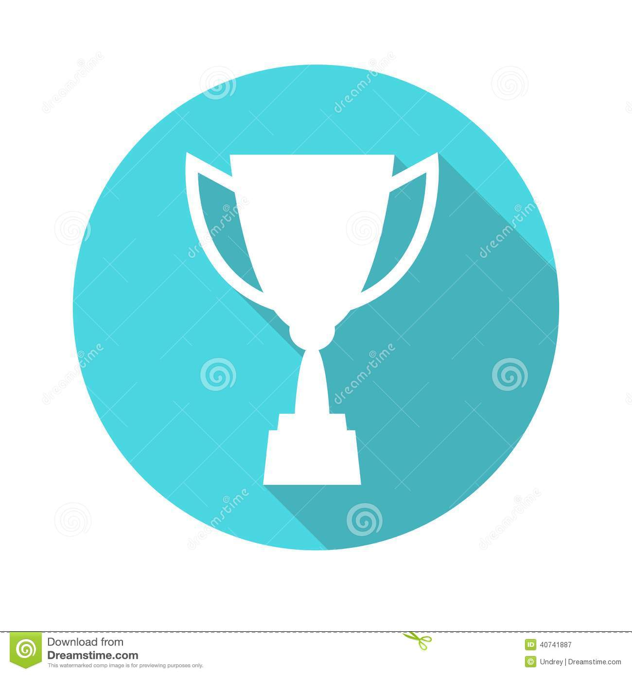 Trophy Cup Vector Icon, Flat Design. Concept-winning ...